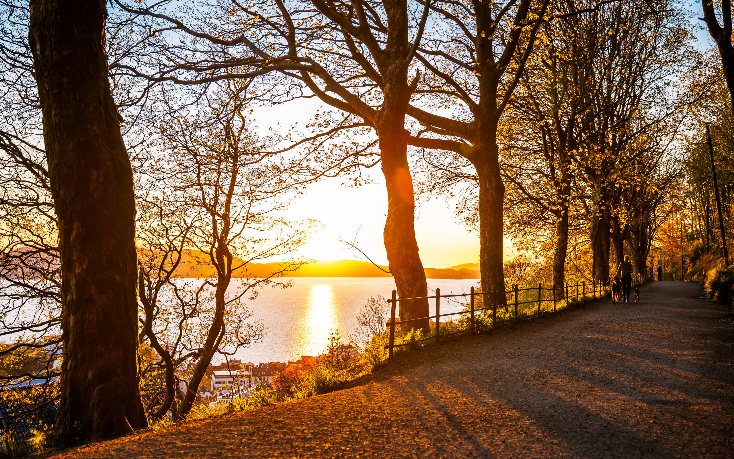 Sunset at Fjellveien walking road