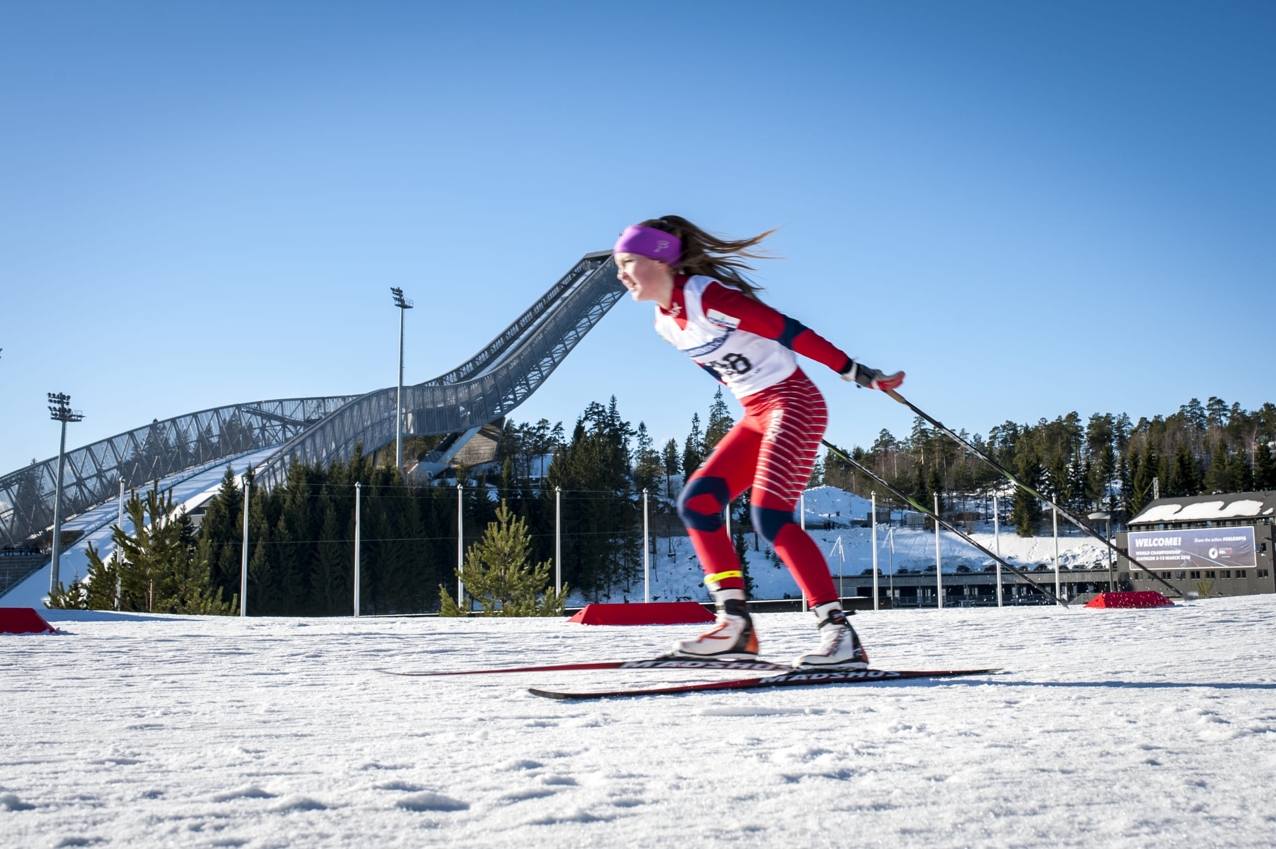 Cross-country skiing in Holmenkollen