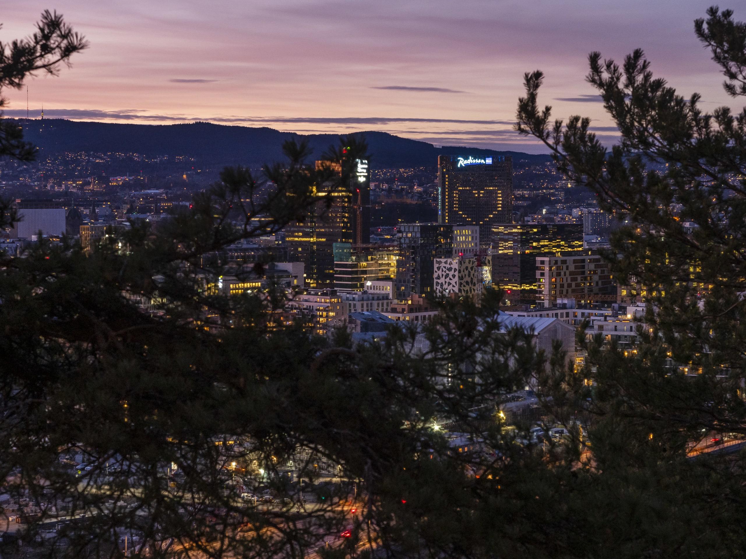 Ekeberg sculpture park in Oslo