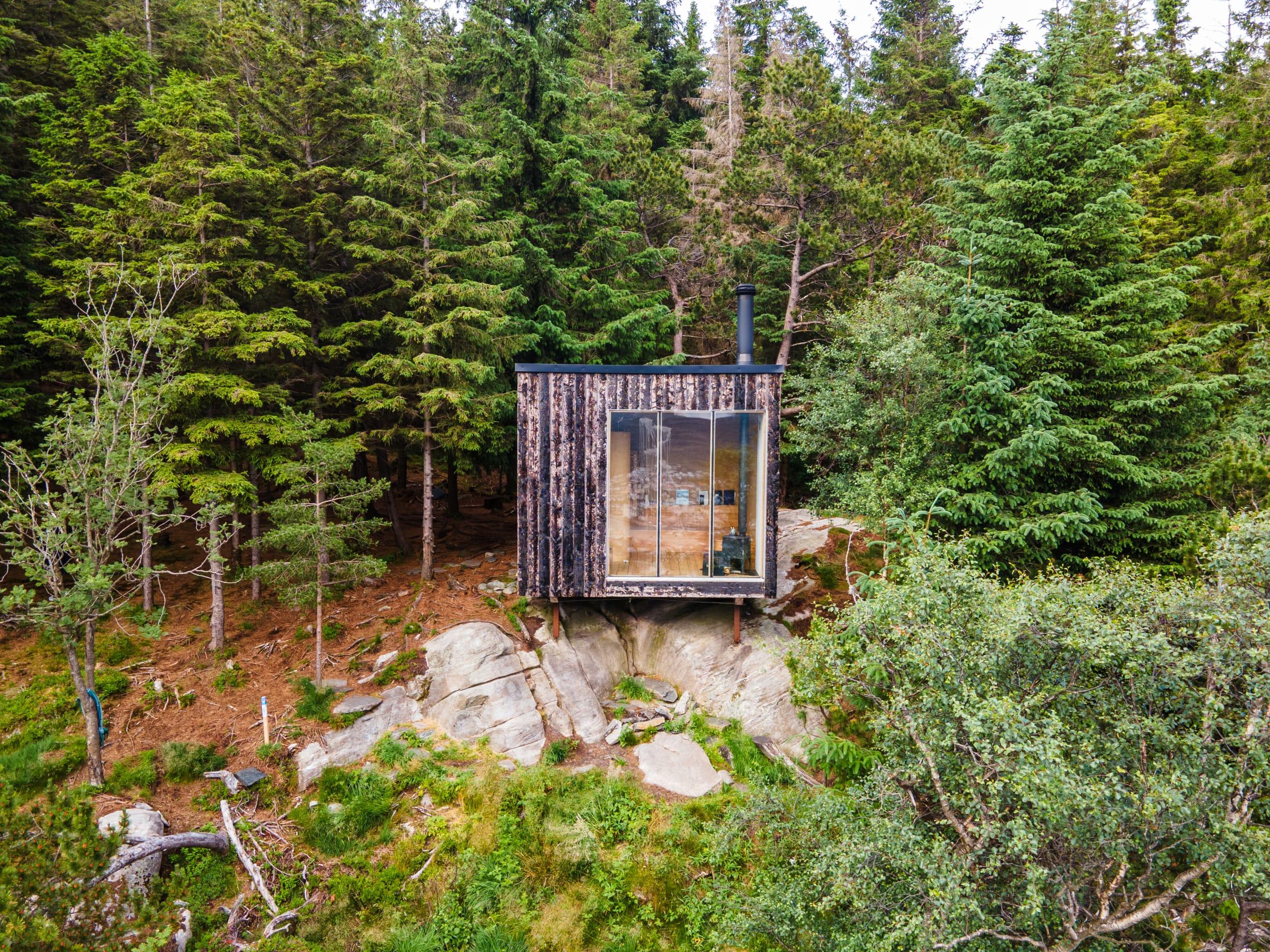 Secret cottage at Mount Fløyen in Bergen