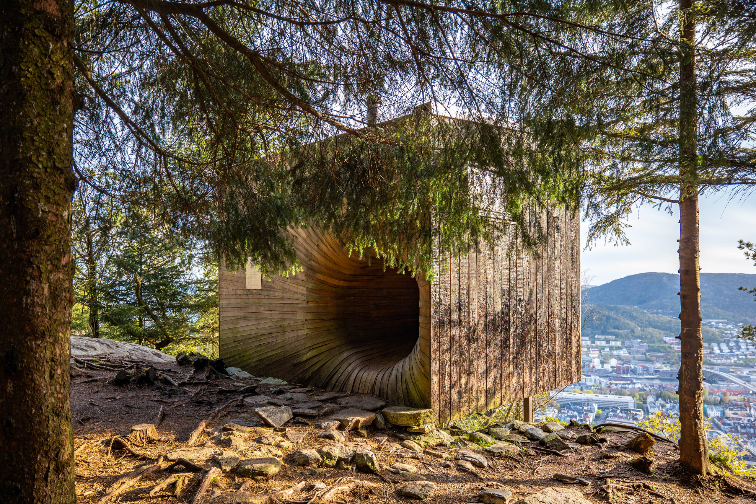 Secret cottage at Mount Fløyen in Bergen