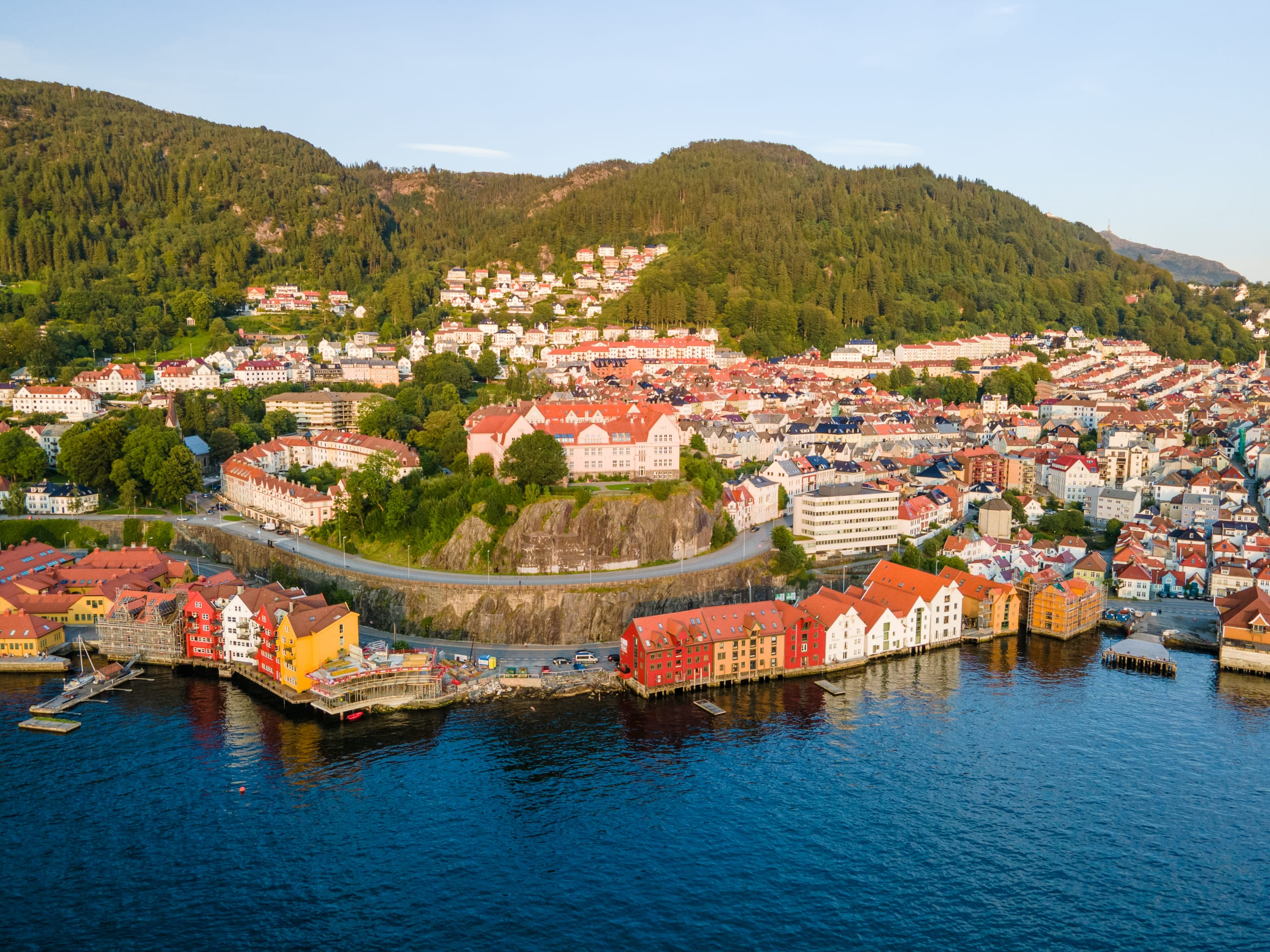 Skuteviken boathouses from above