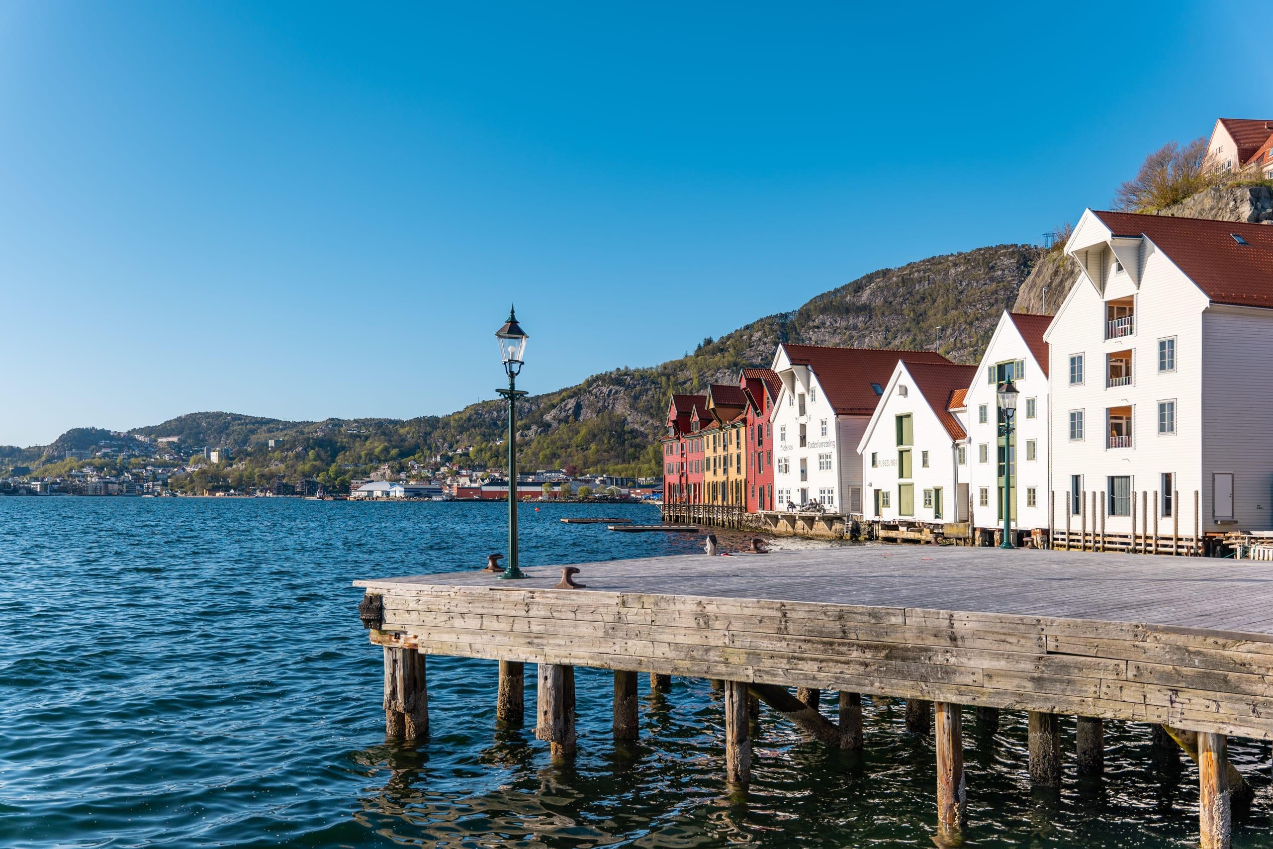 Skuteviken pier in Bergen