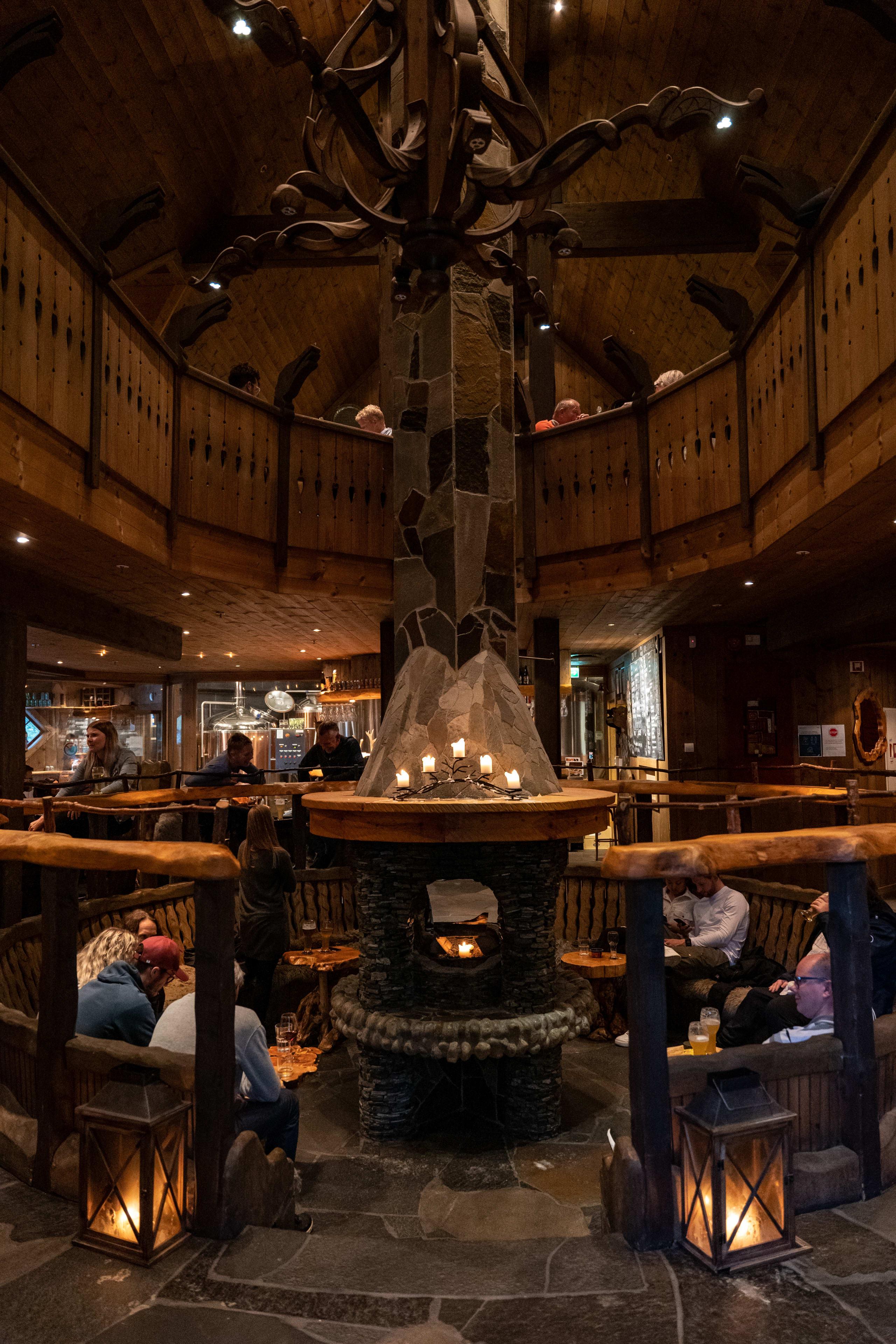 Inside Ægir brewery