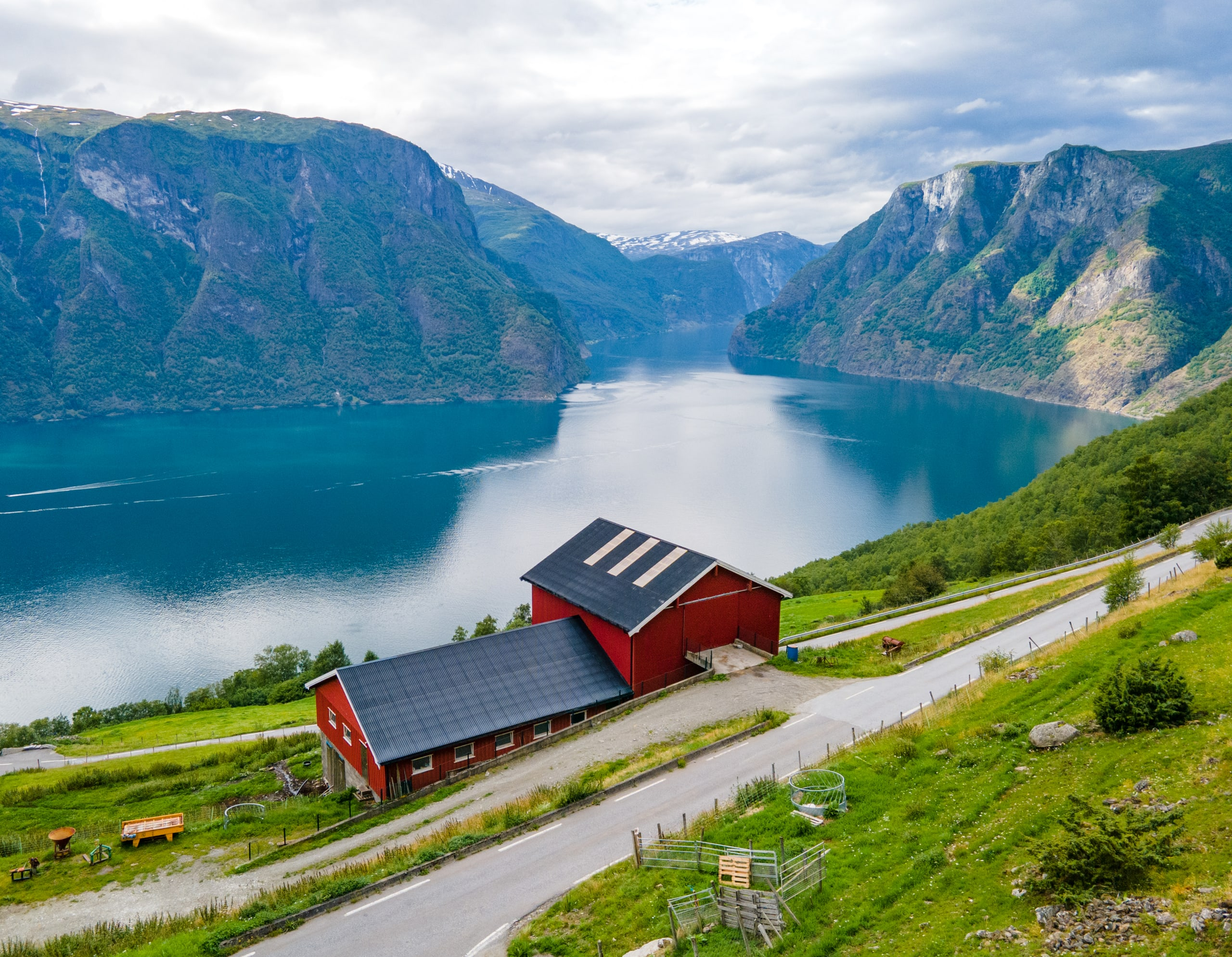 Farm along the beautiful Aurlandsfjord
