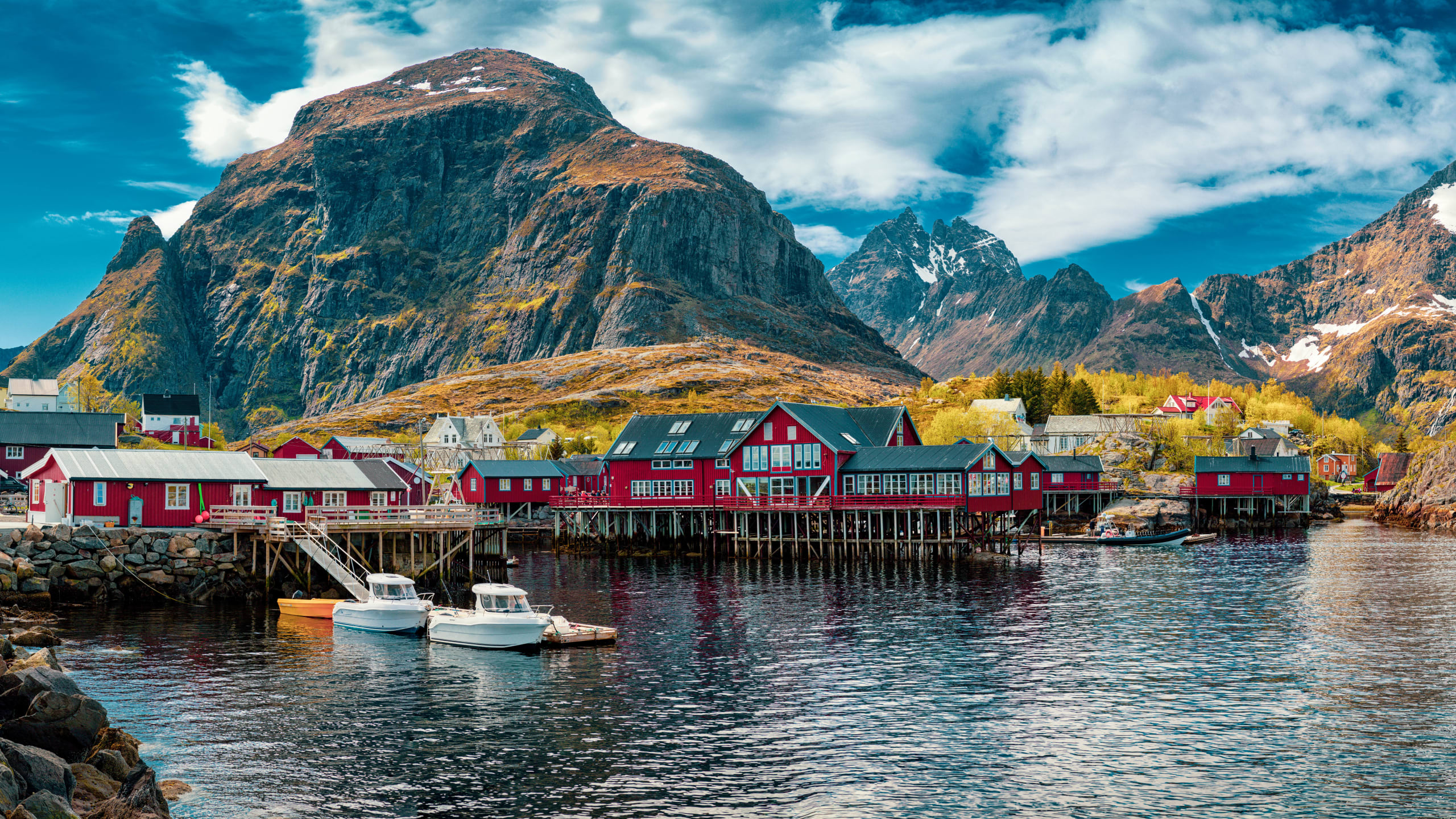 Fishing village of Å in Lofoten