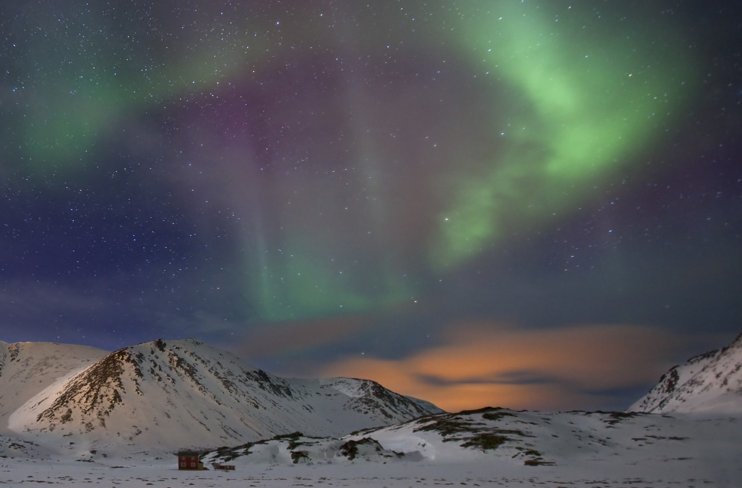 Northern Lights on the night sky