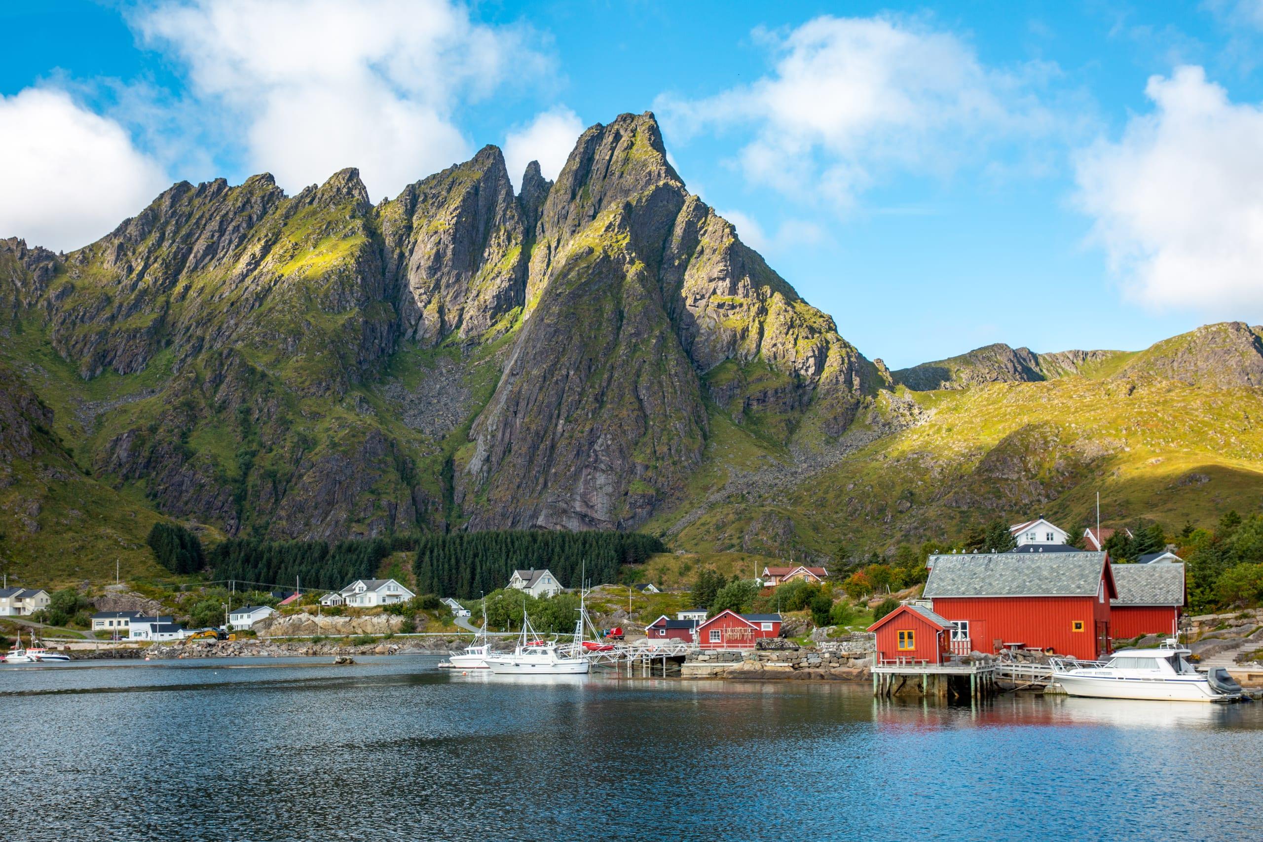 Ballstad fishing village in Lofoten