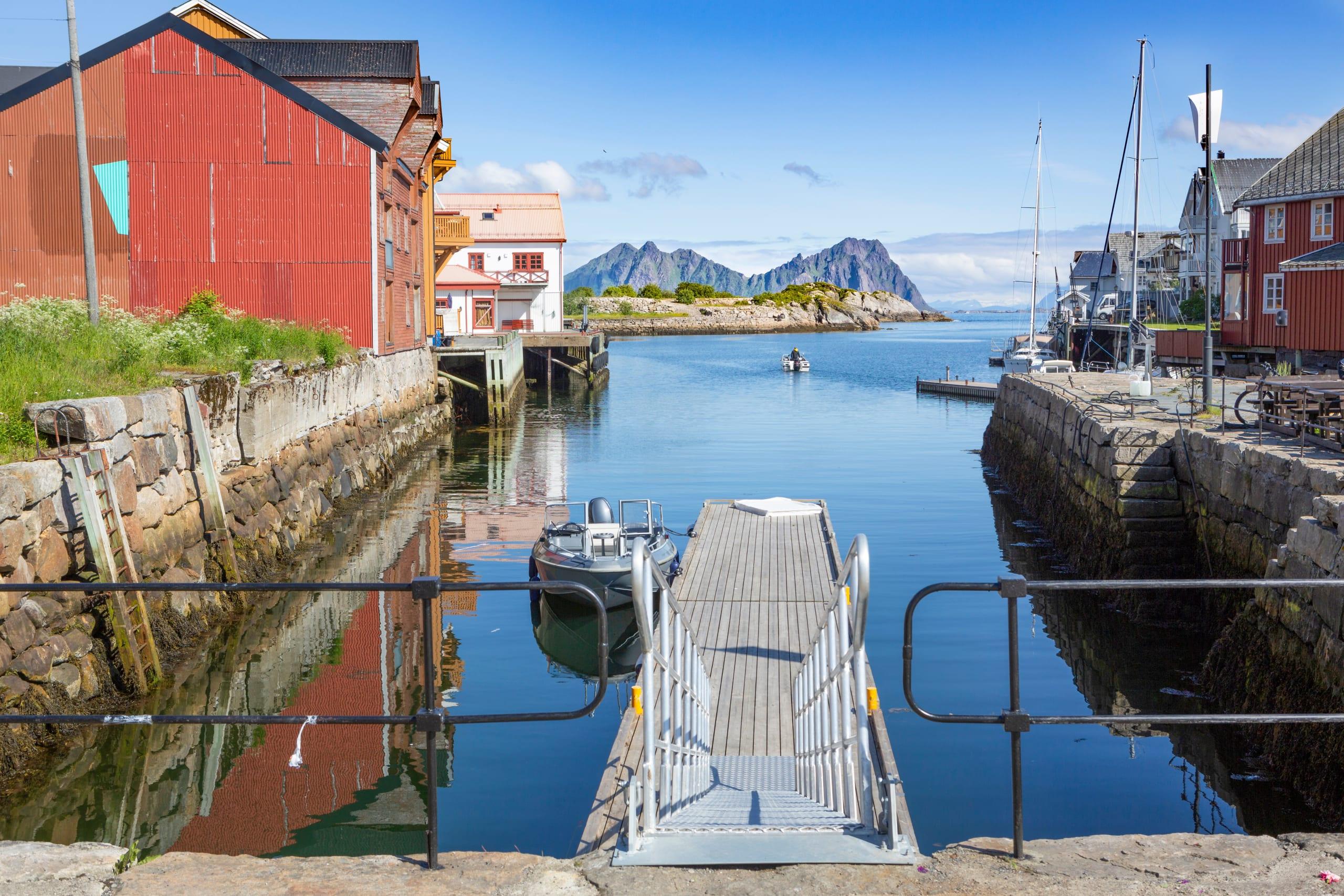 Kabelvåg quay in Lofoten Islands