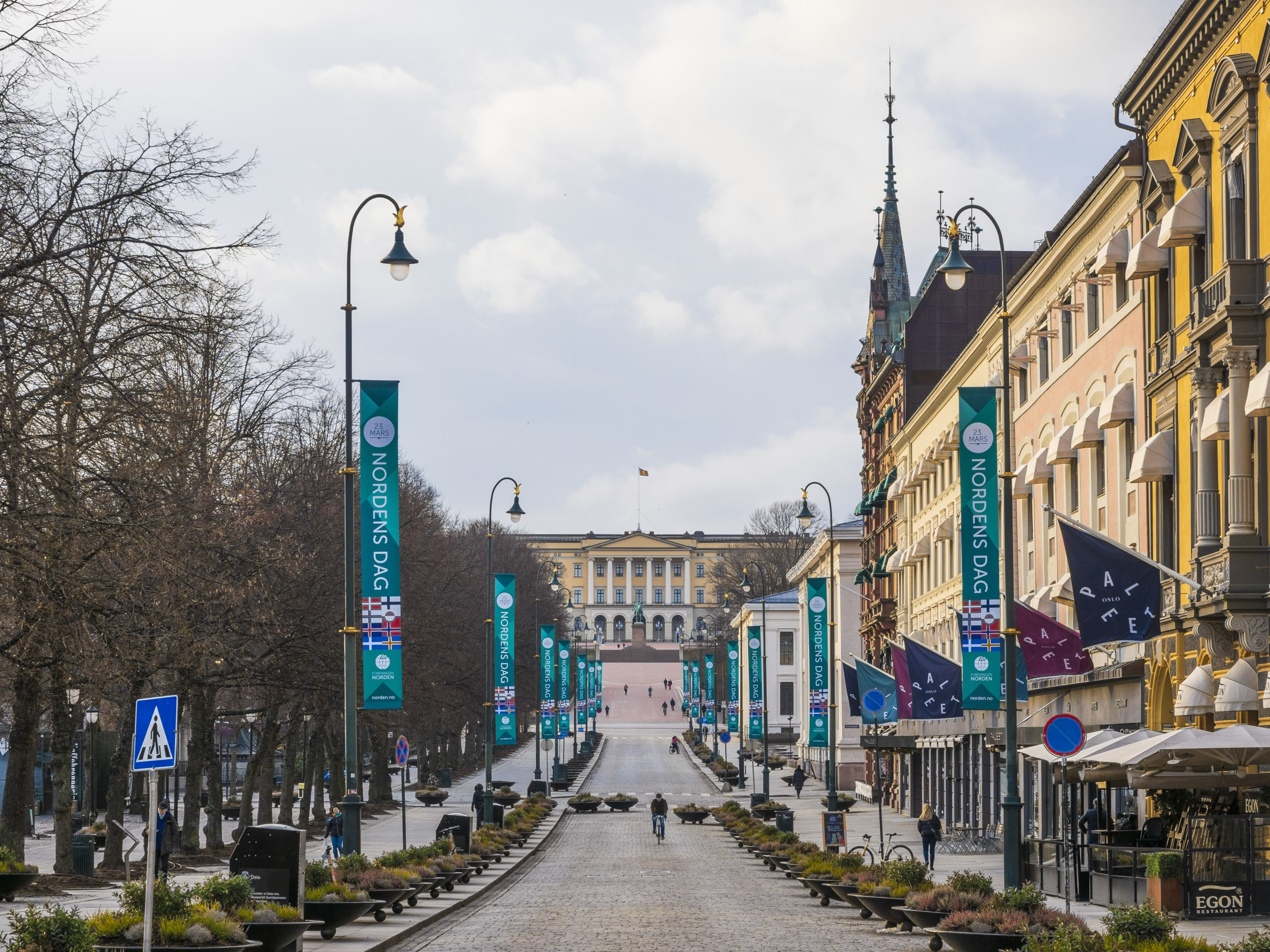 Karl Johan Gate is lined up with numerous shops and attractions