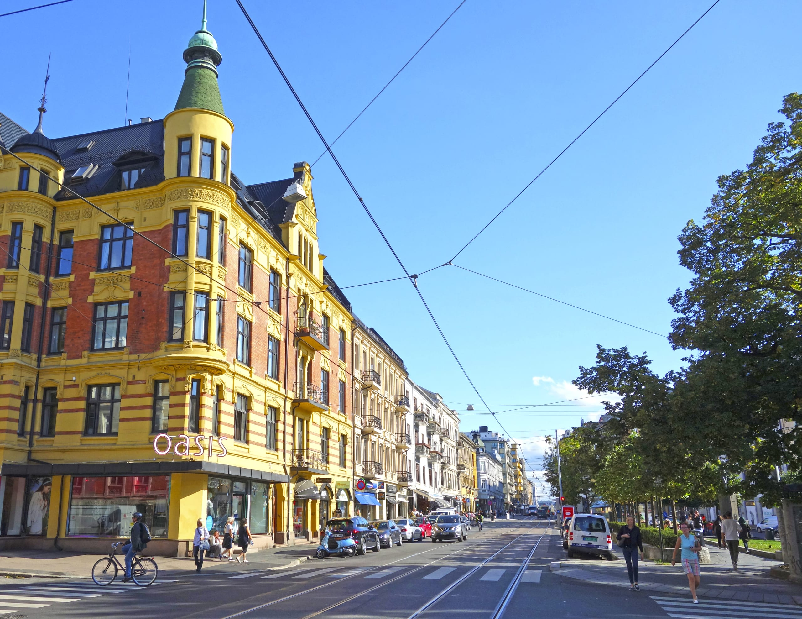 Bogstadveien shopping street in Oslo