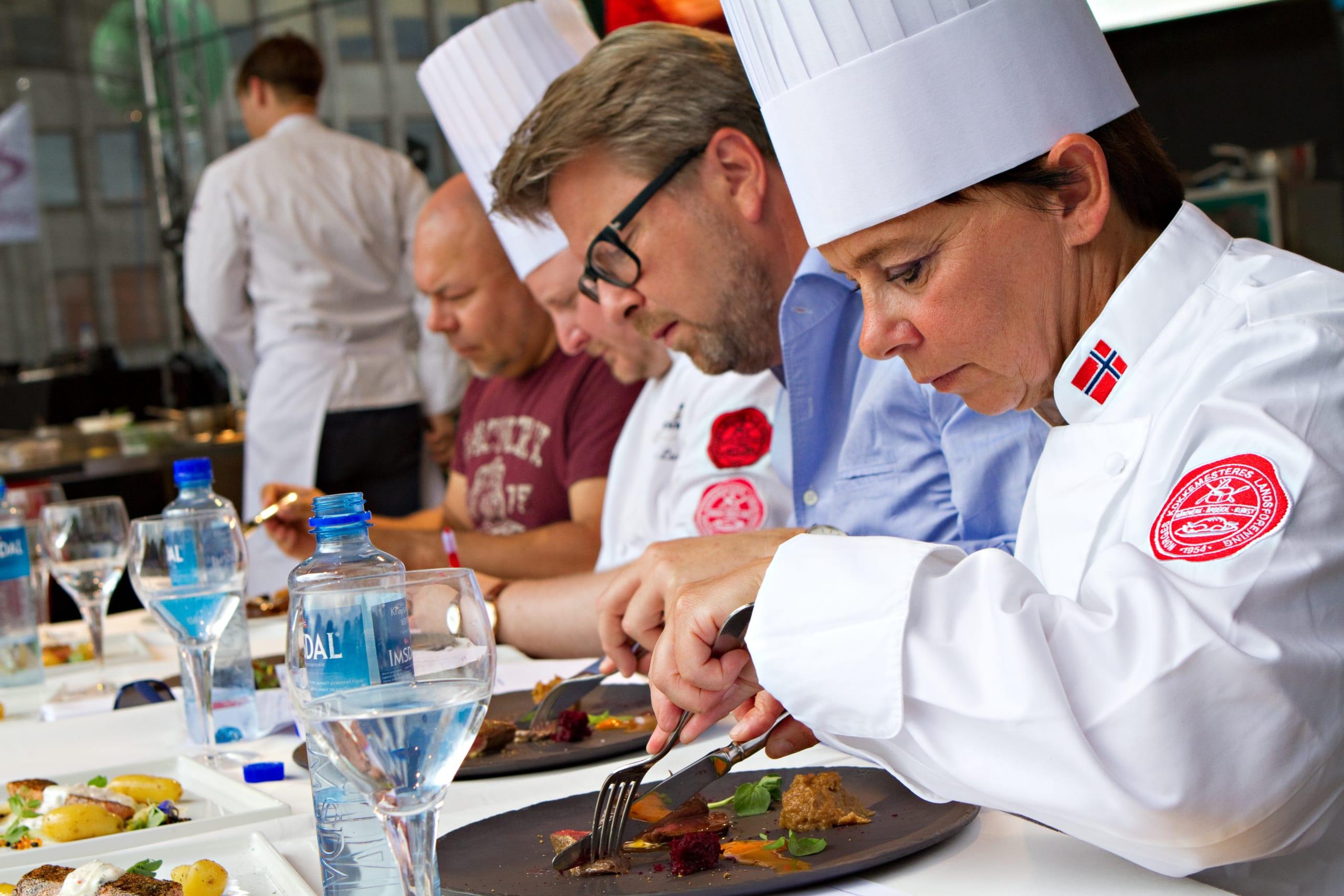 Chefs judge food at Gladmat festival in Stavanger