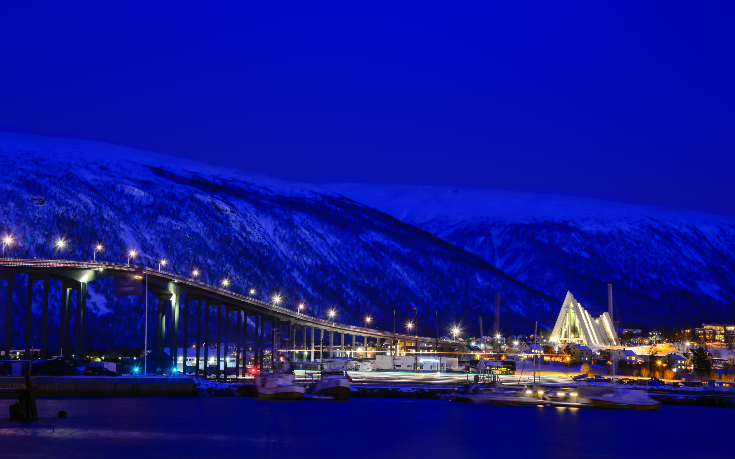 Blue hour in Tromsø the Arctic capital of Norway