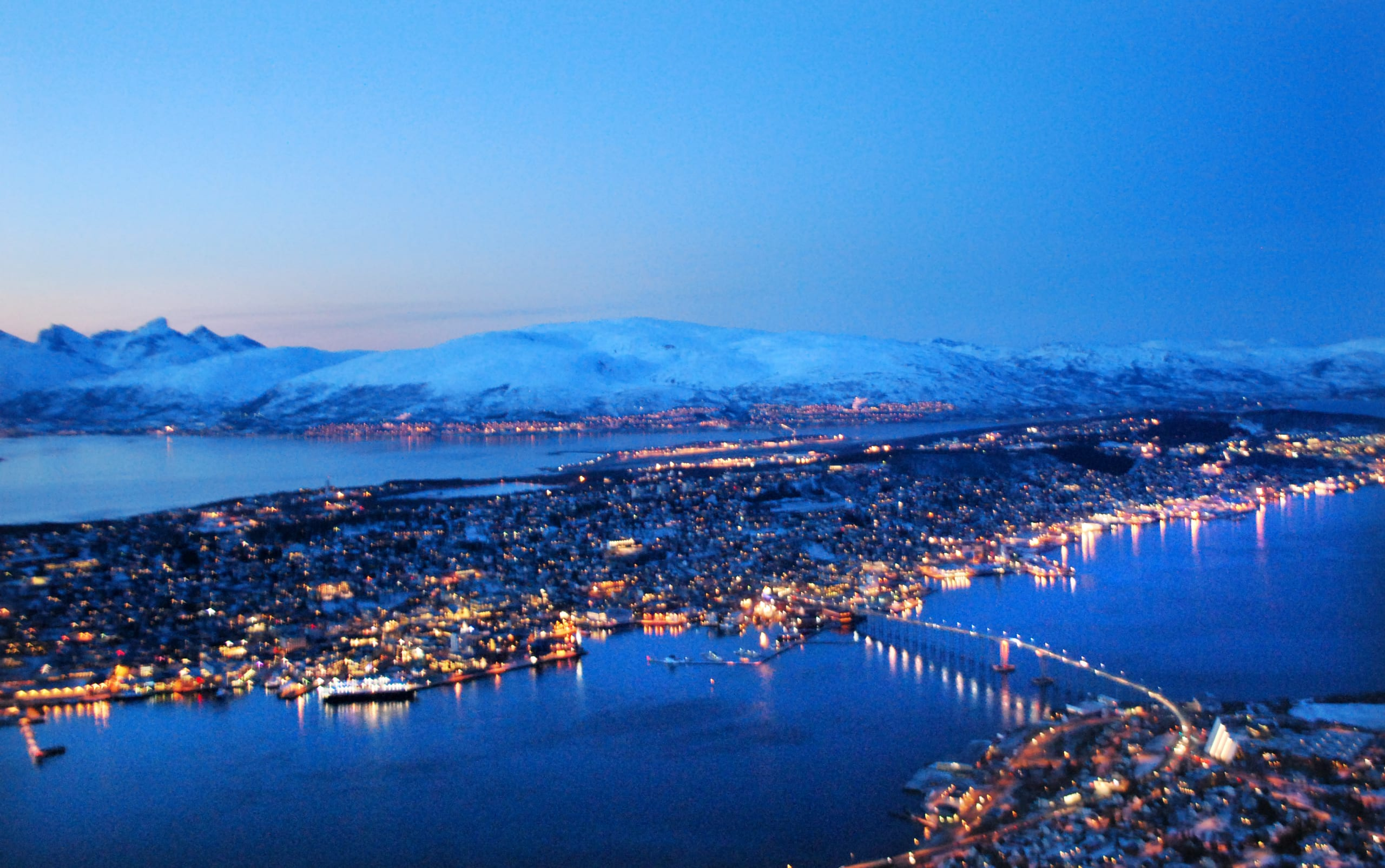 Tromsø seen from the top of Fjellheisen