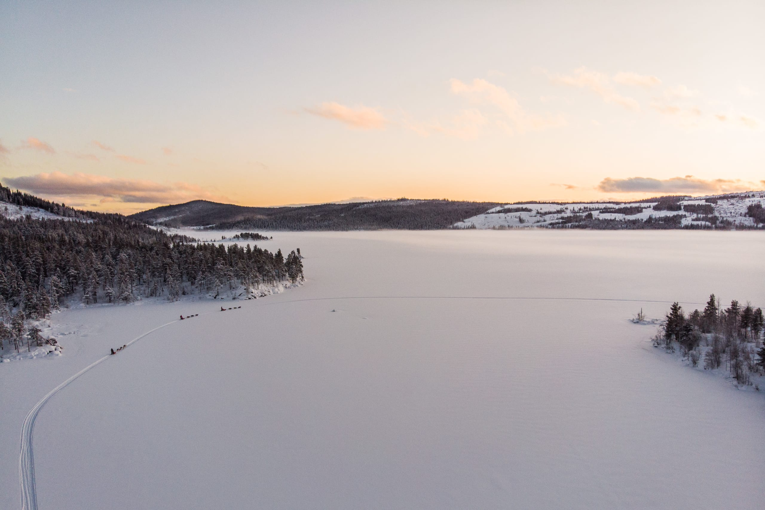 Afternoon light in Jotunheimen at winter time