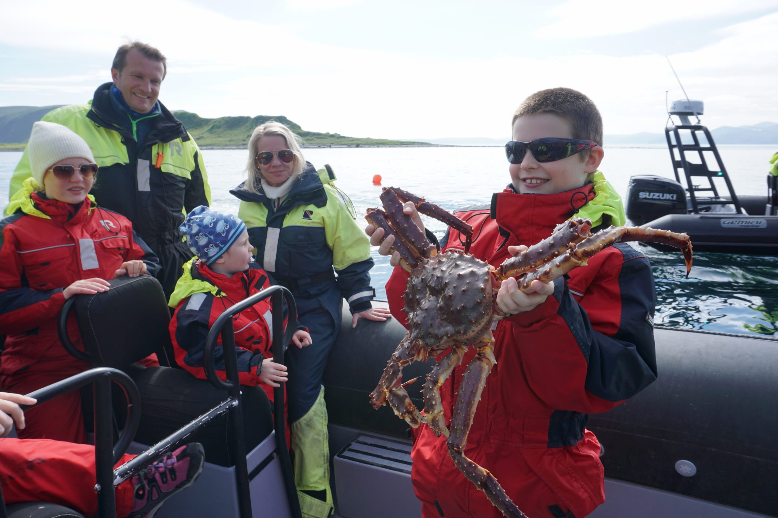 King crab caught outside Honningsvåg