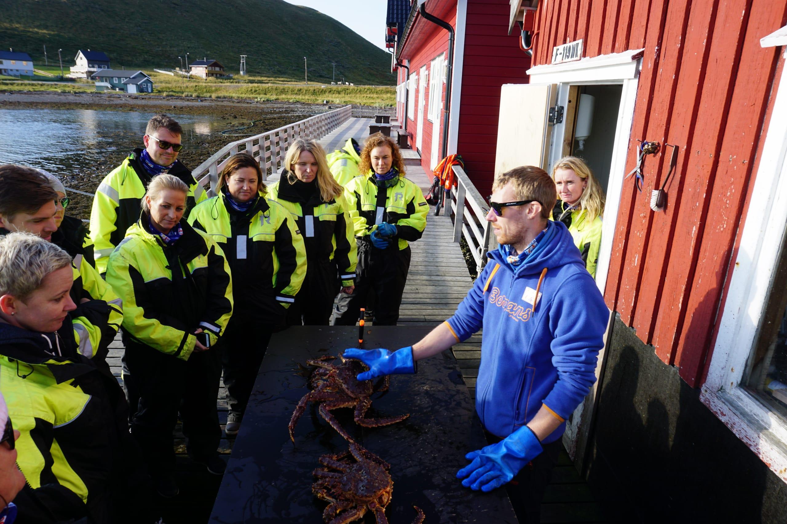 King crab caught outside Honningsvåg