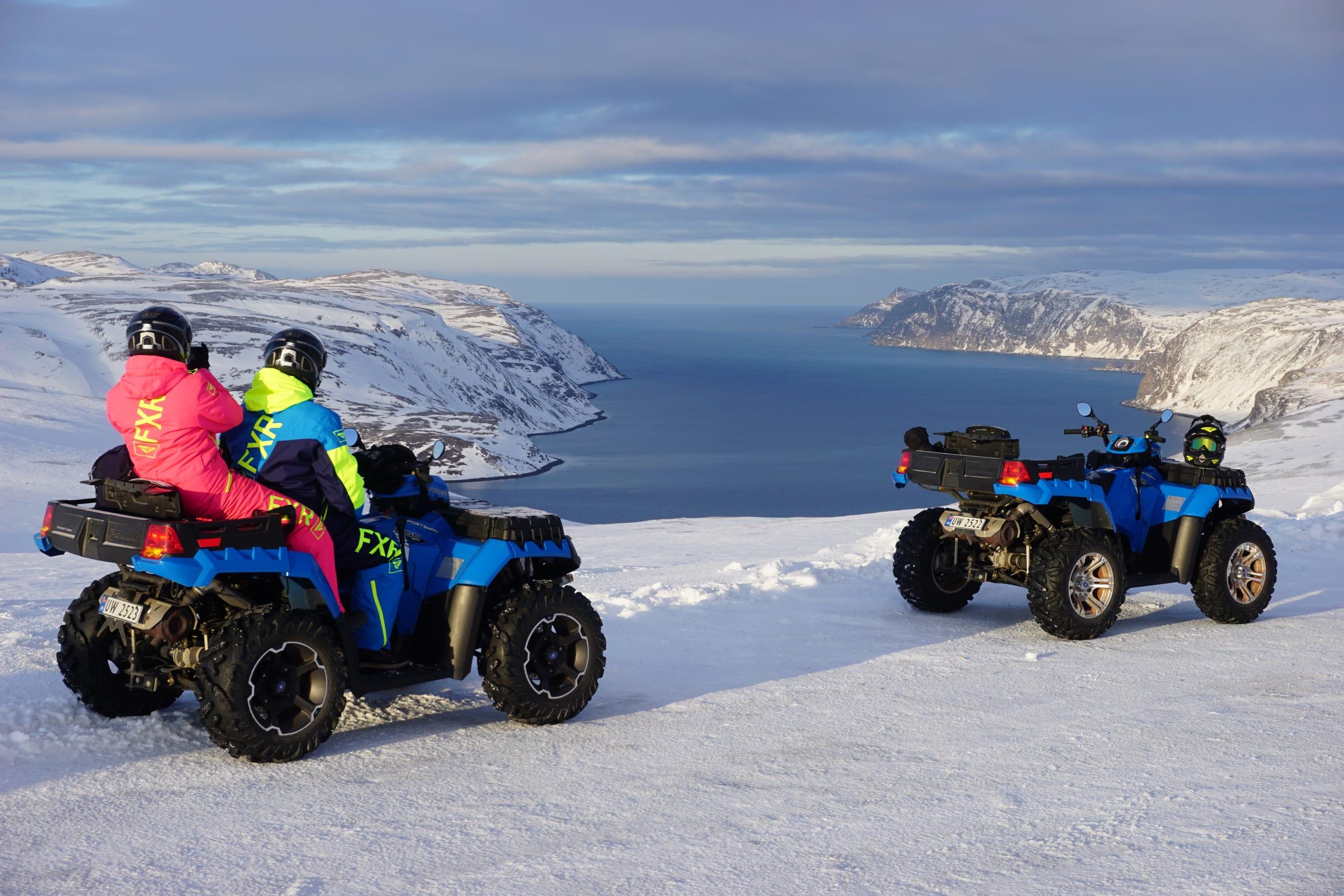 Magic views on North Cape ATV safari winter