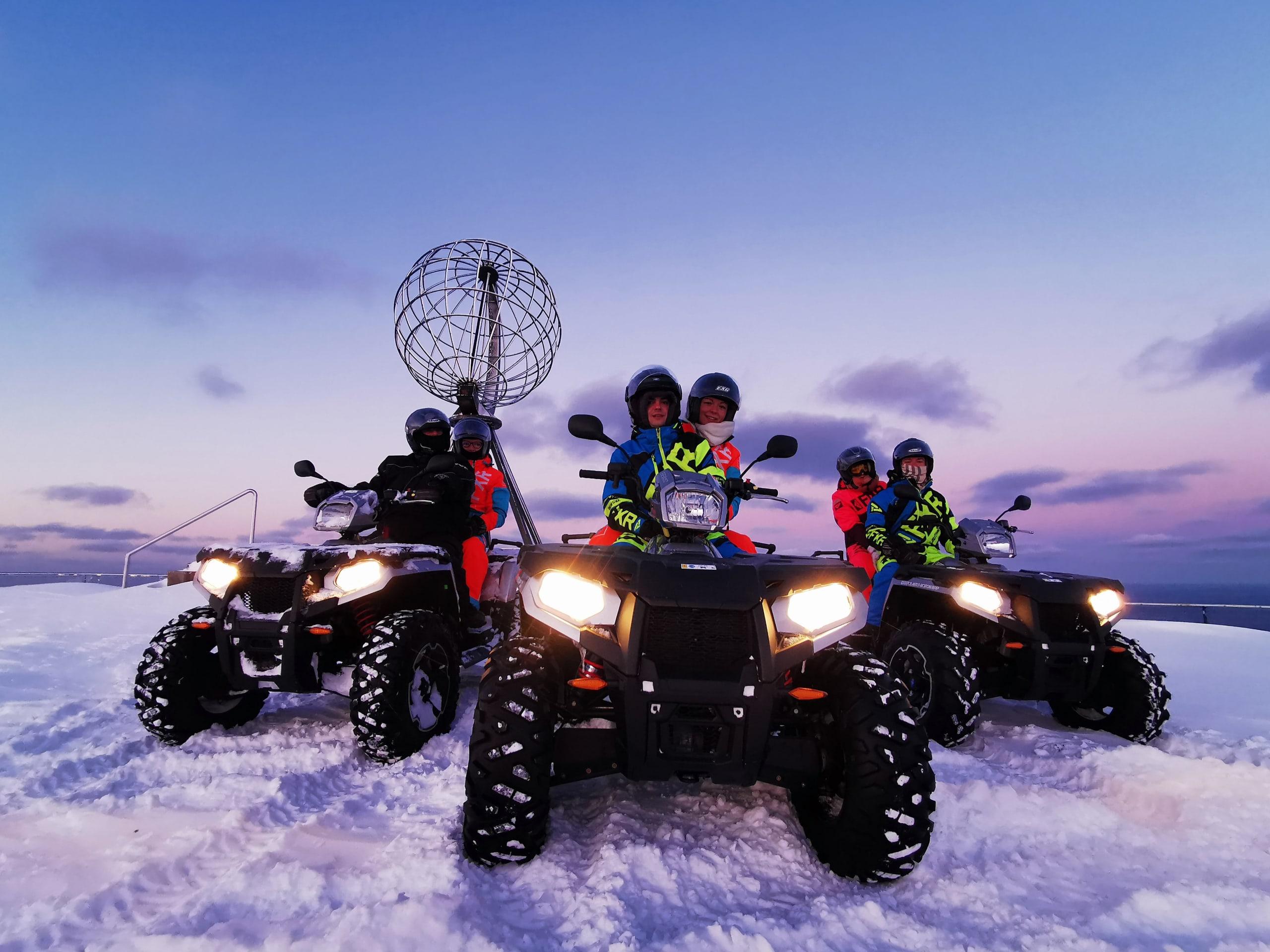 North Cape ATV safari winter