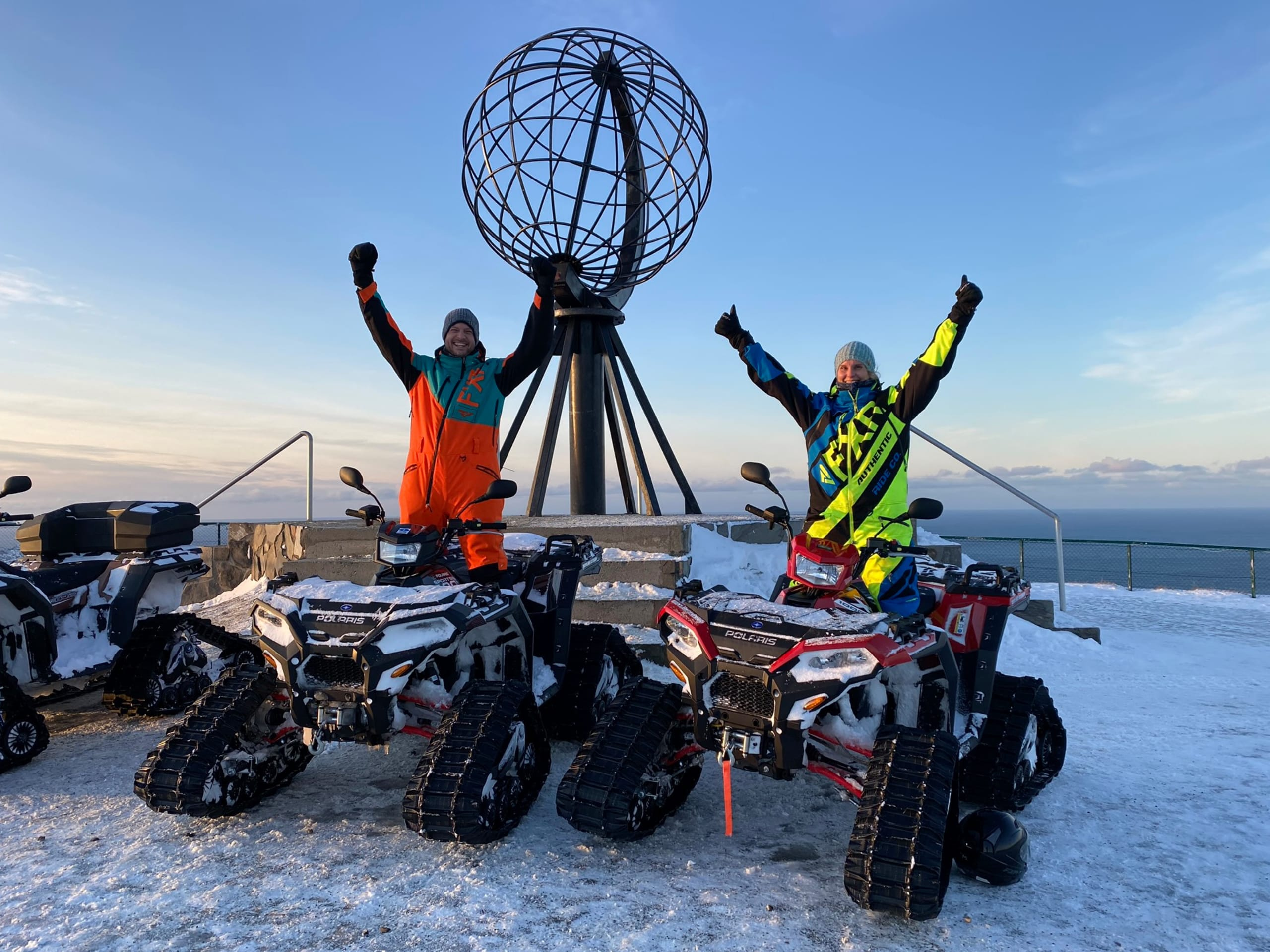Snowquad on Nordkapp