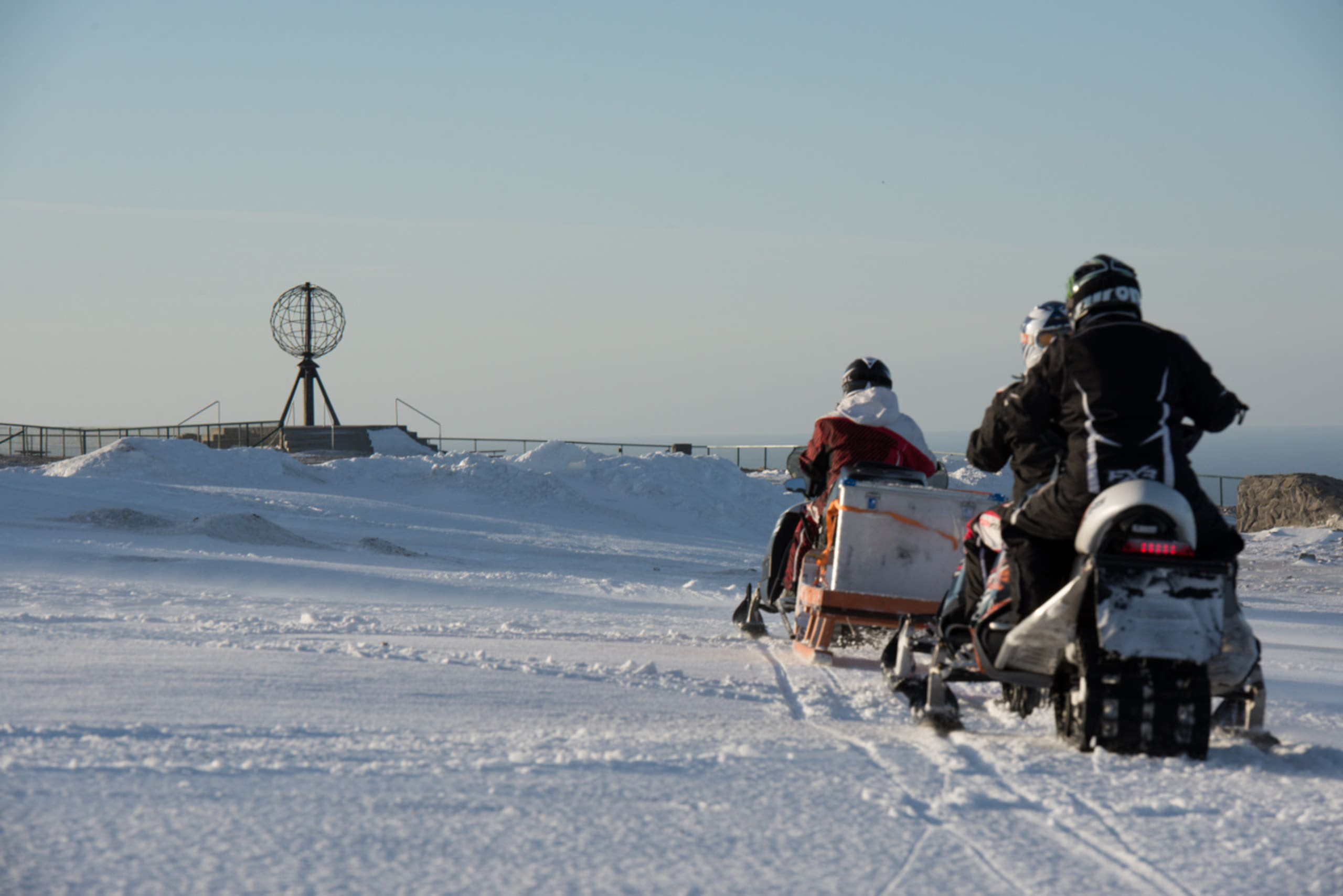 Snowmobile safari to Nordkapp