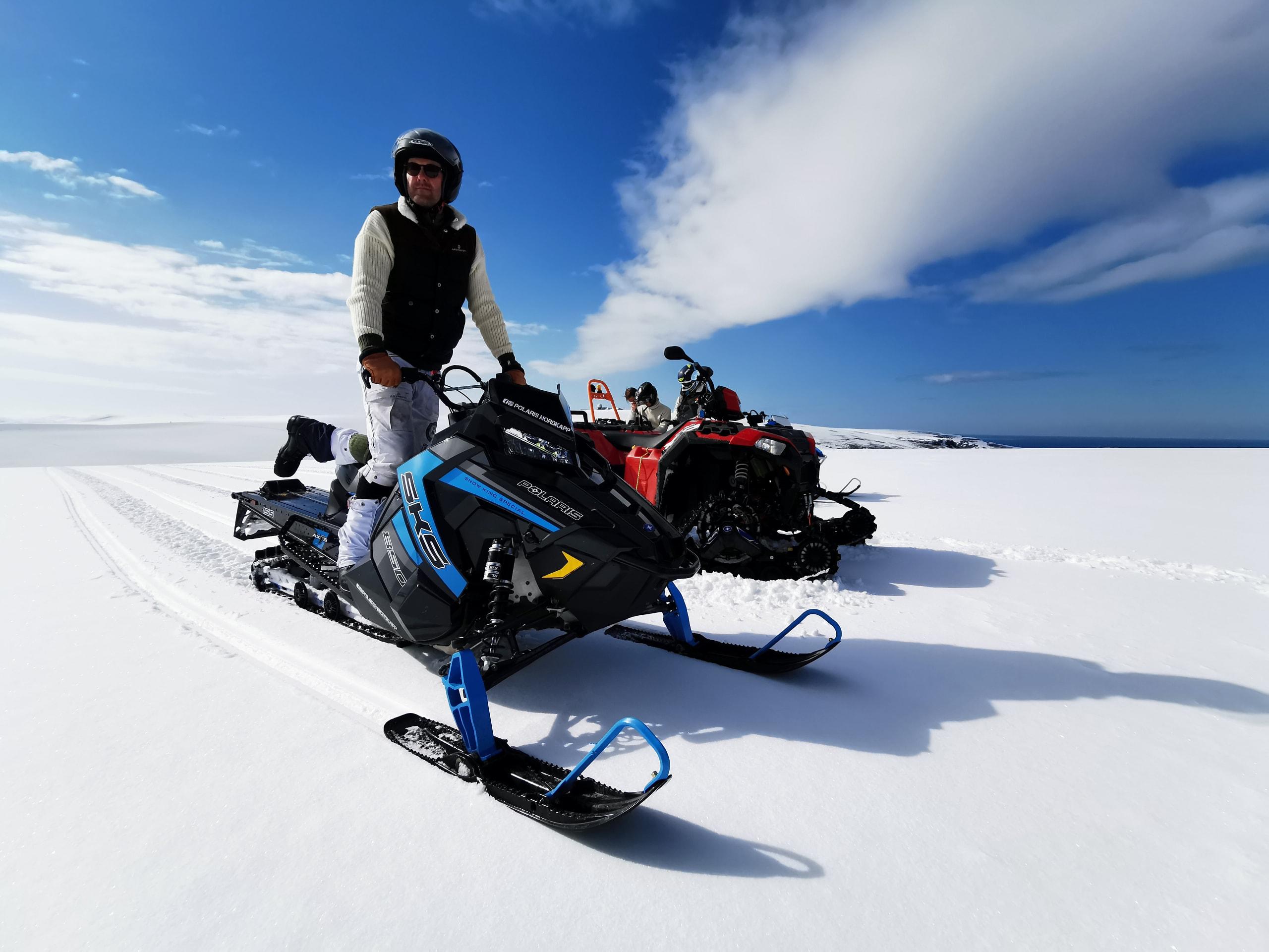 Snowmobile safari to the North Cape