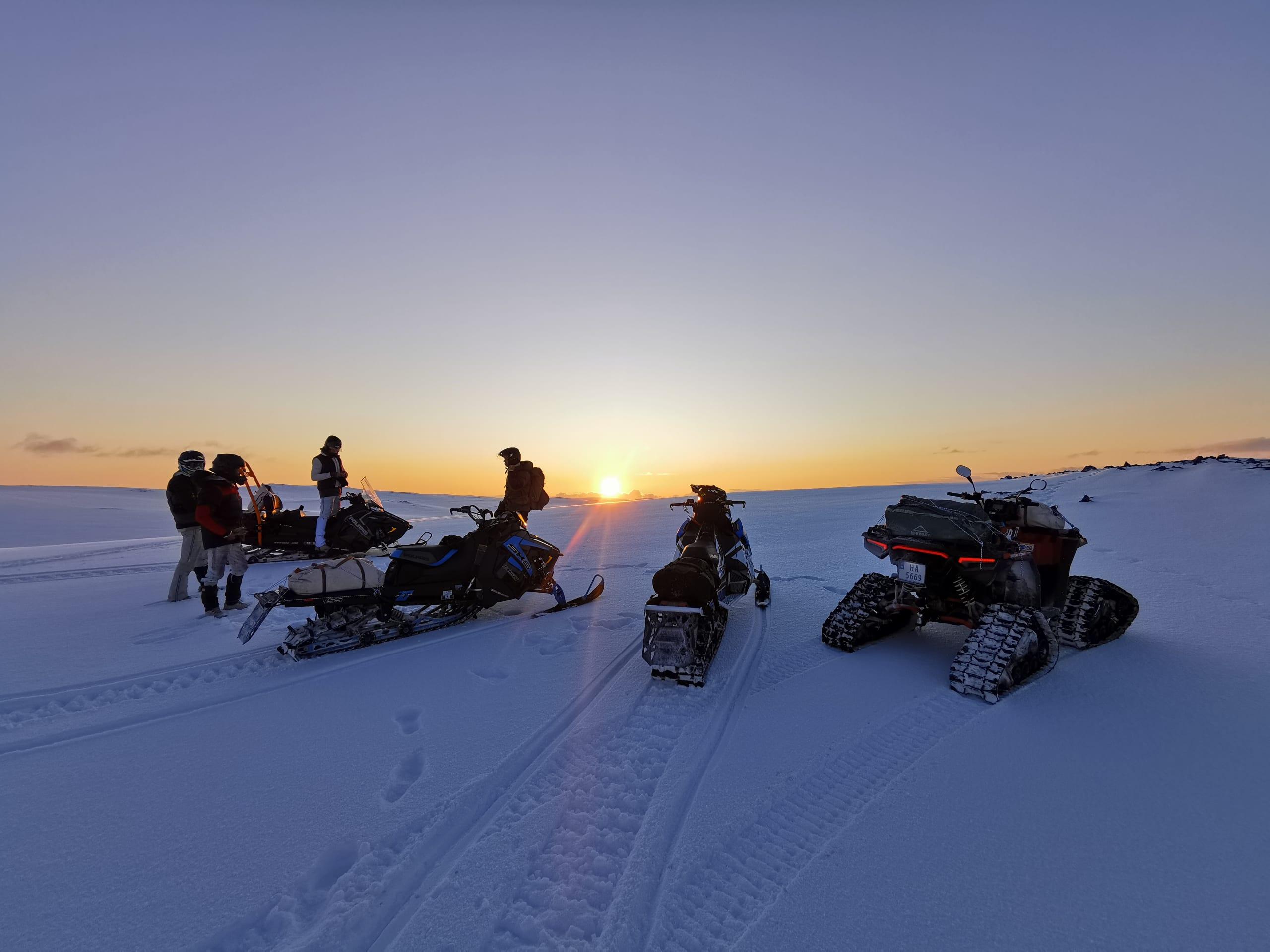 Snowmobile safari to North Cape