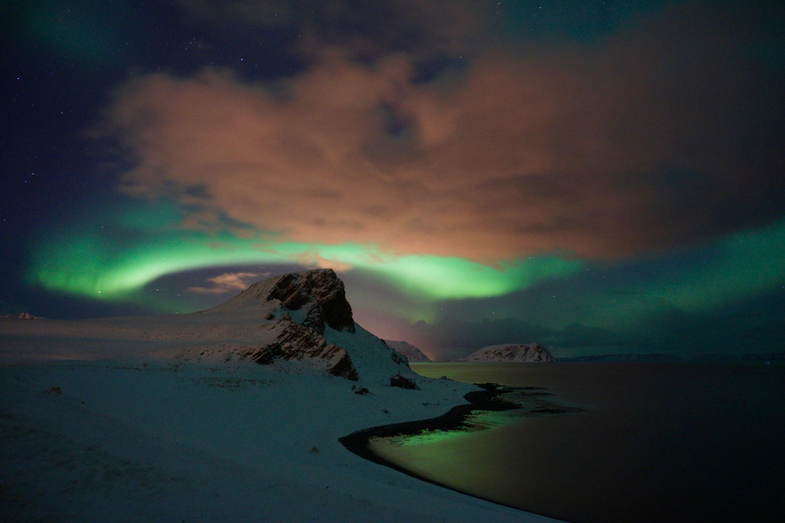 Aurora Borealis at Honningsvåg