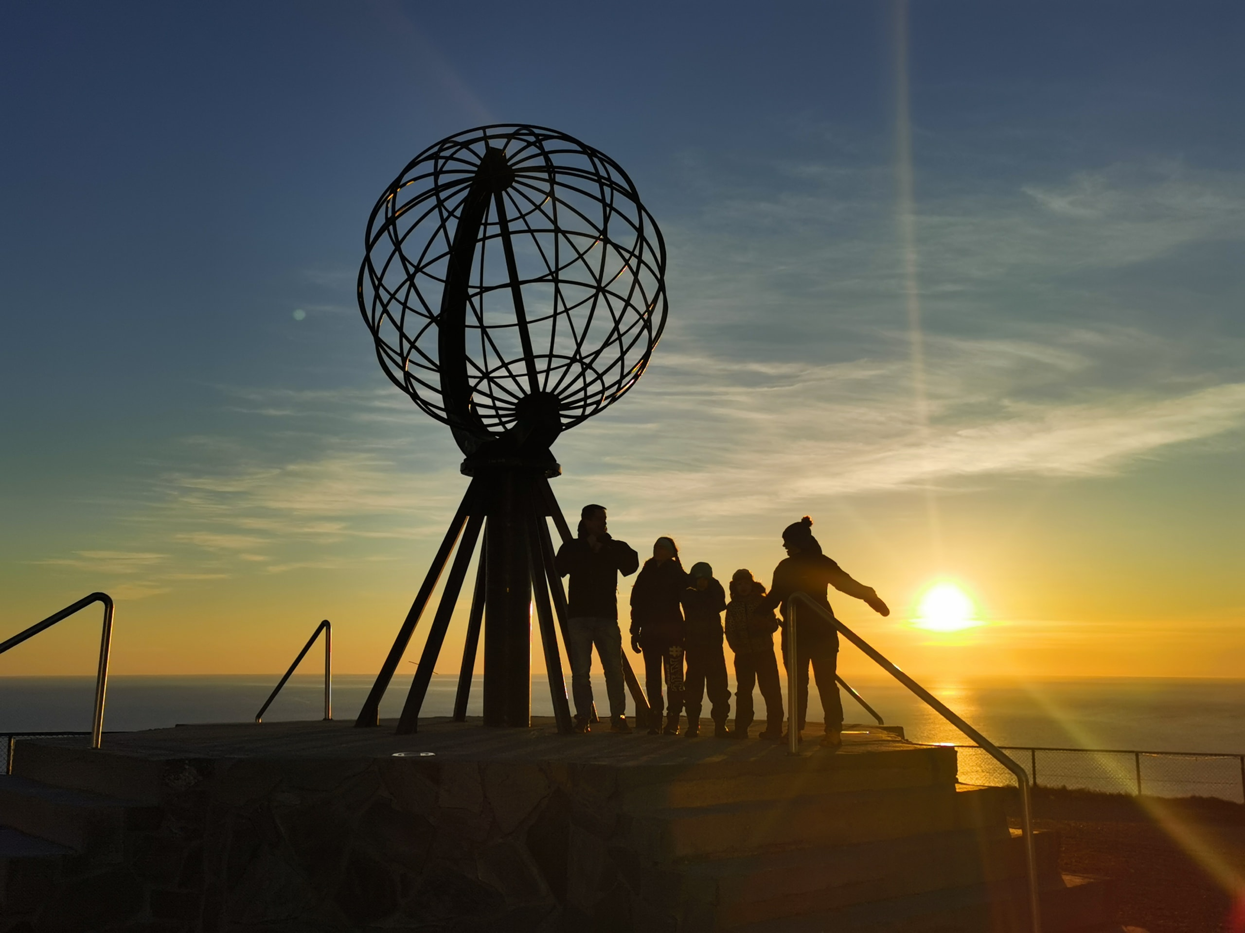 Midnight sun at the North Cape