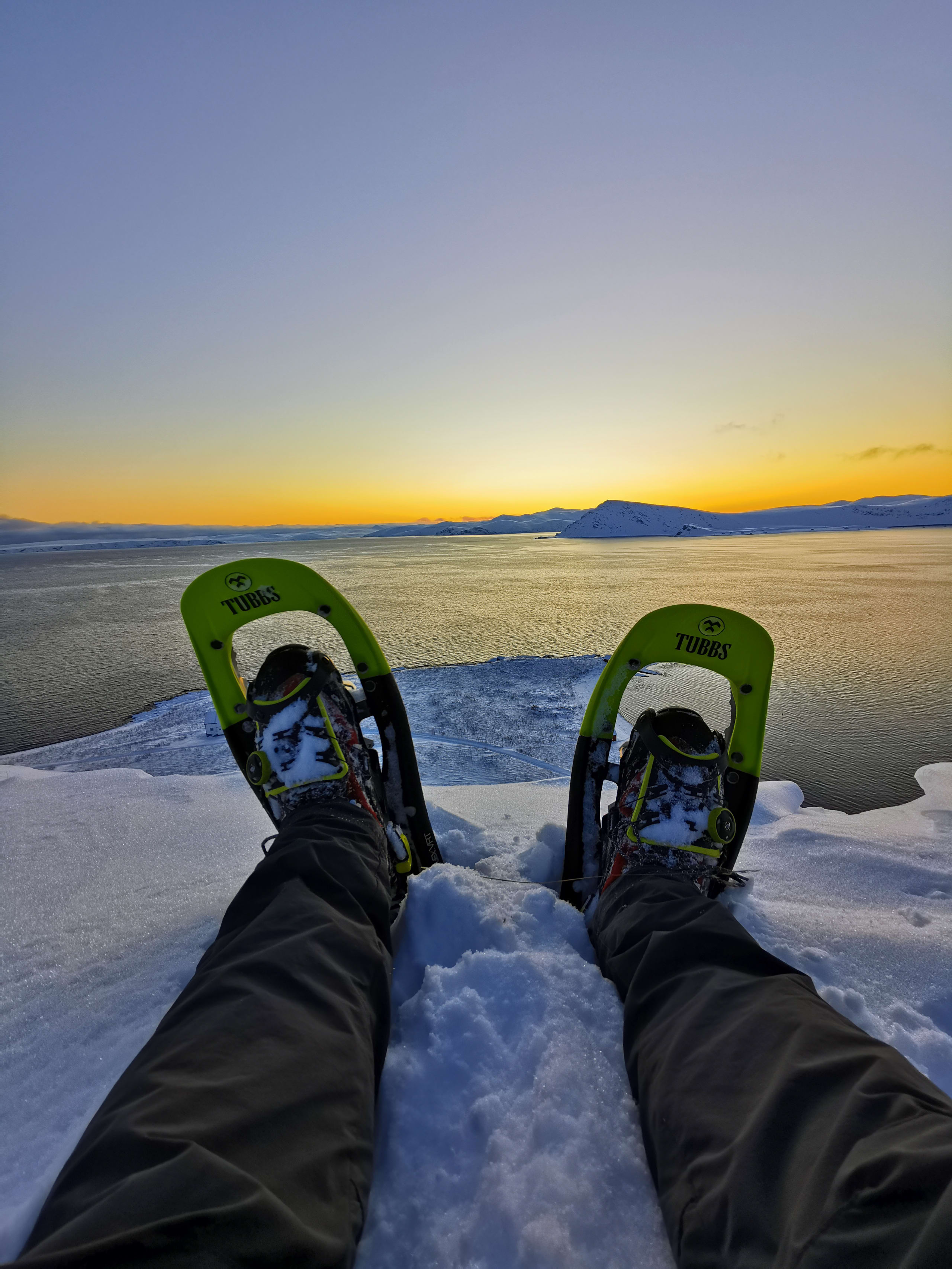Snowshoeing at Nordkapp