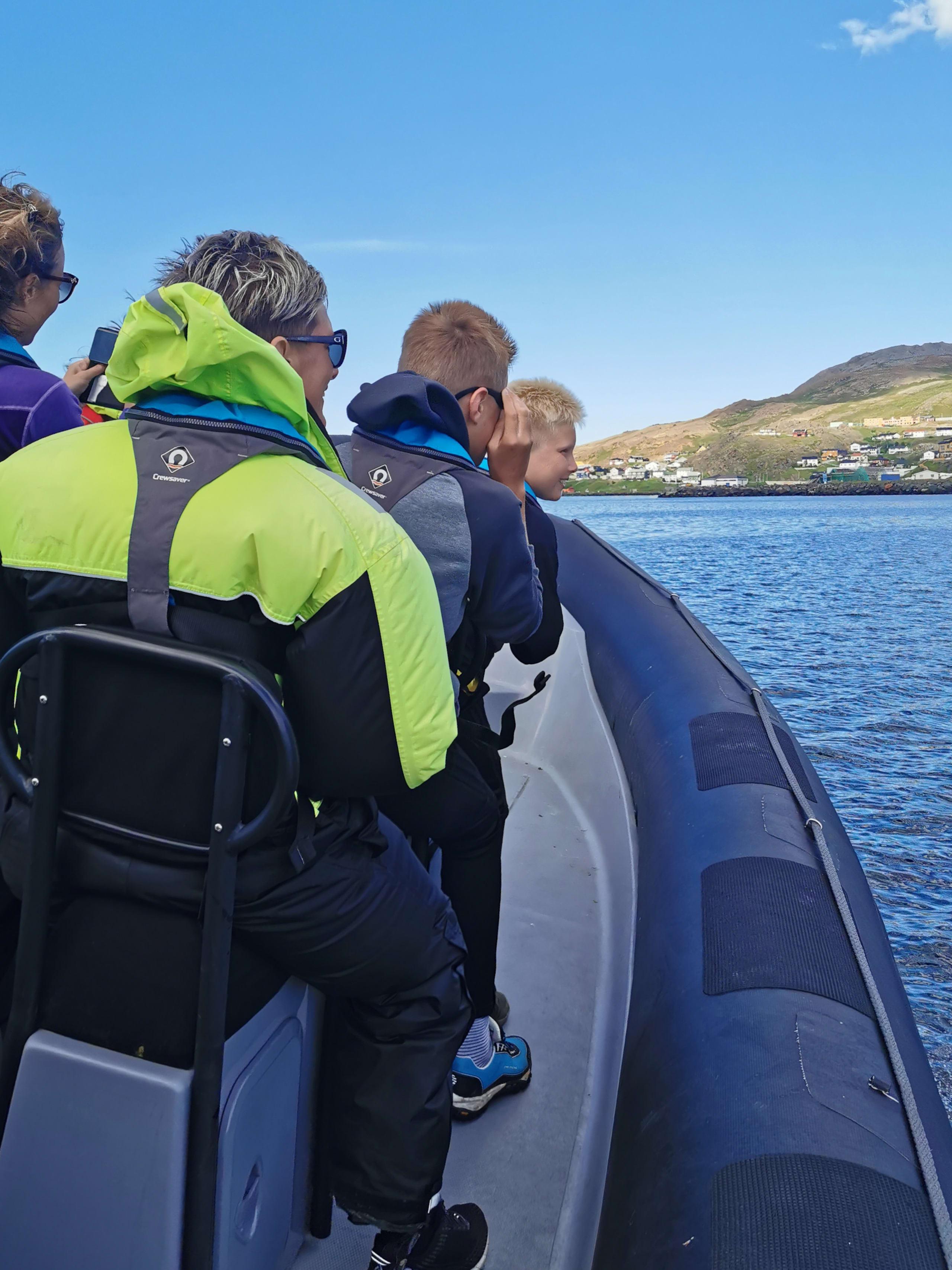 Deep sea rafting with RIB at North Cape