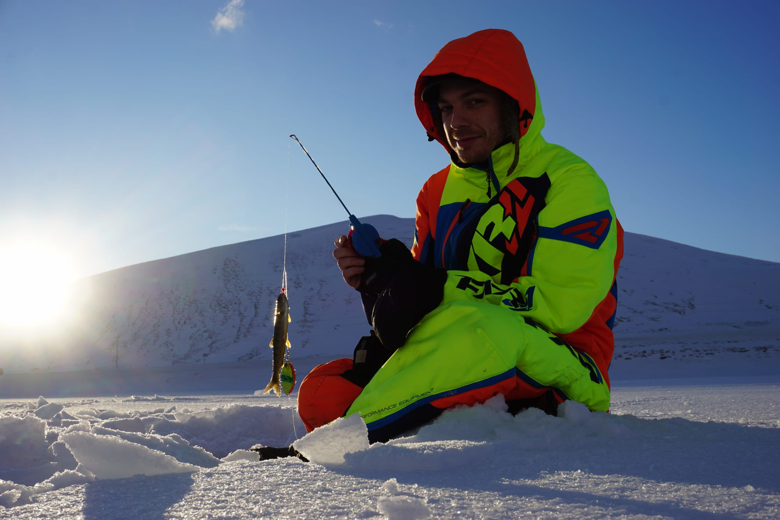 Ice fishing in Finnmark