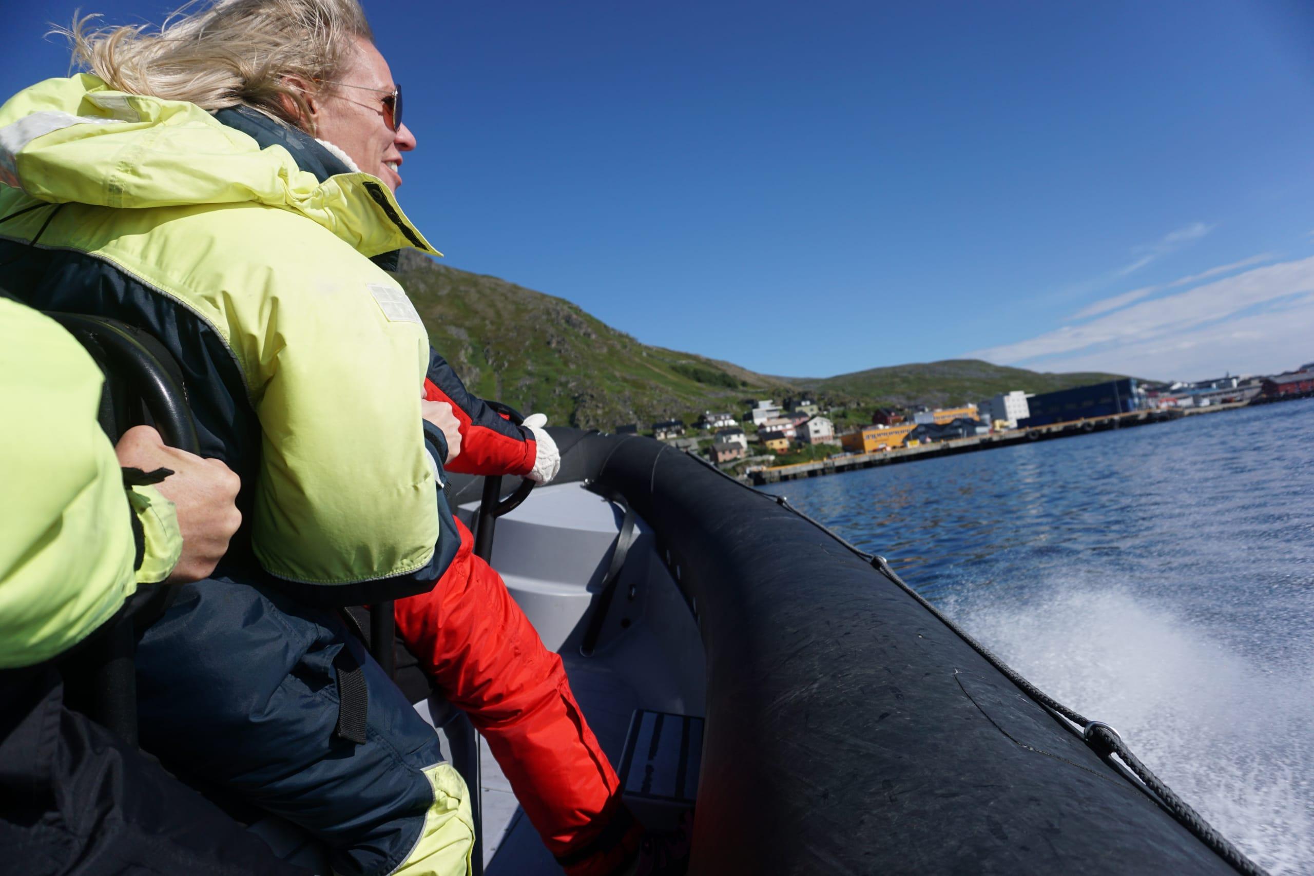 Deep sea rafting with RIB at Nordkapp