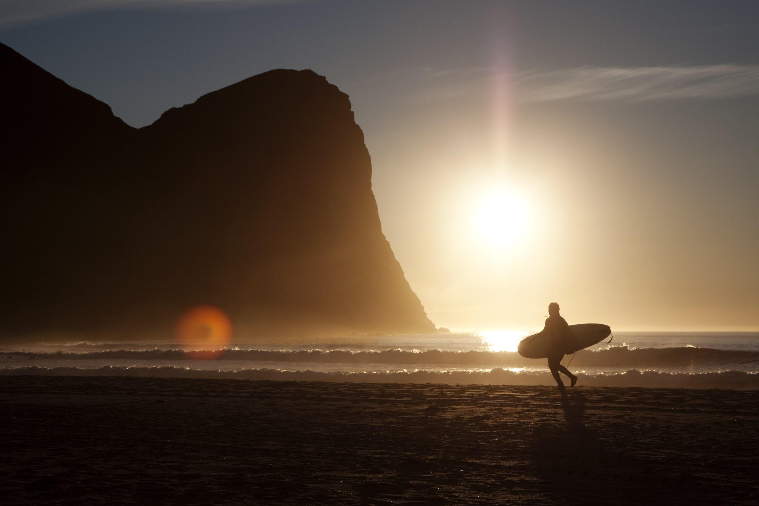 Unstad surfing beach in Lofoten
