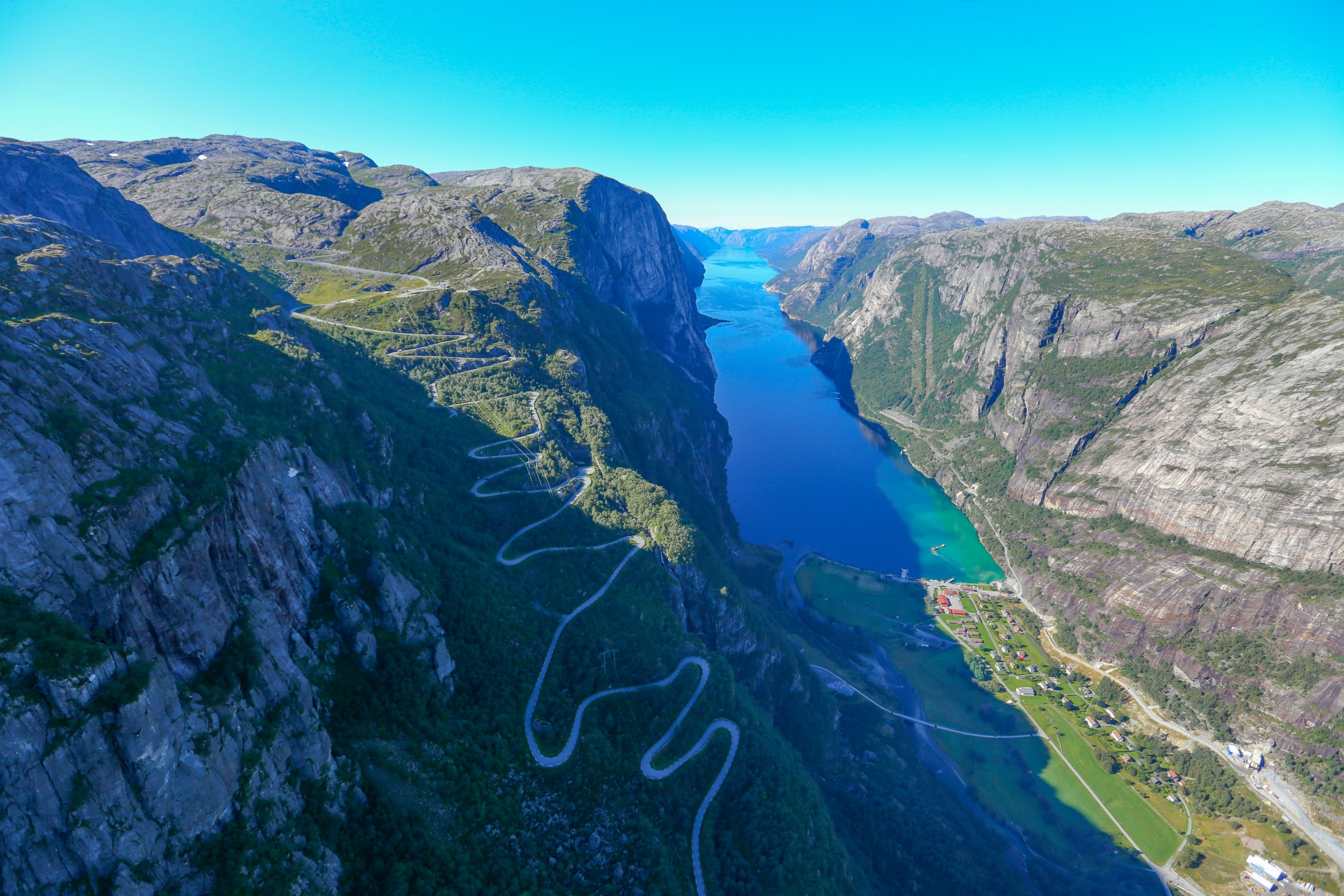 The end of Lysefjorden