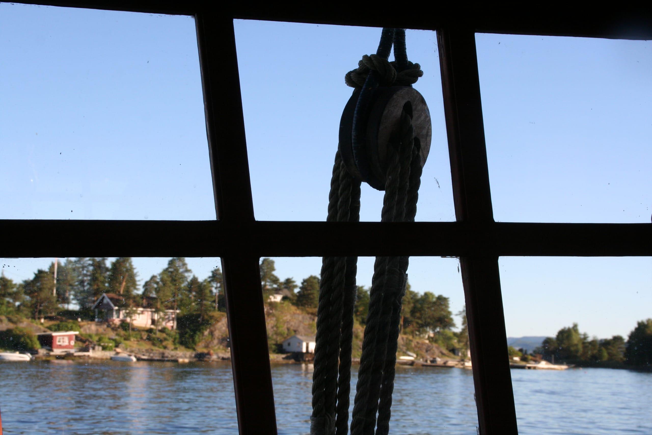 Maritime views on cruise on the Oslofjord