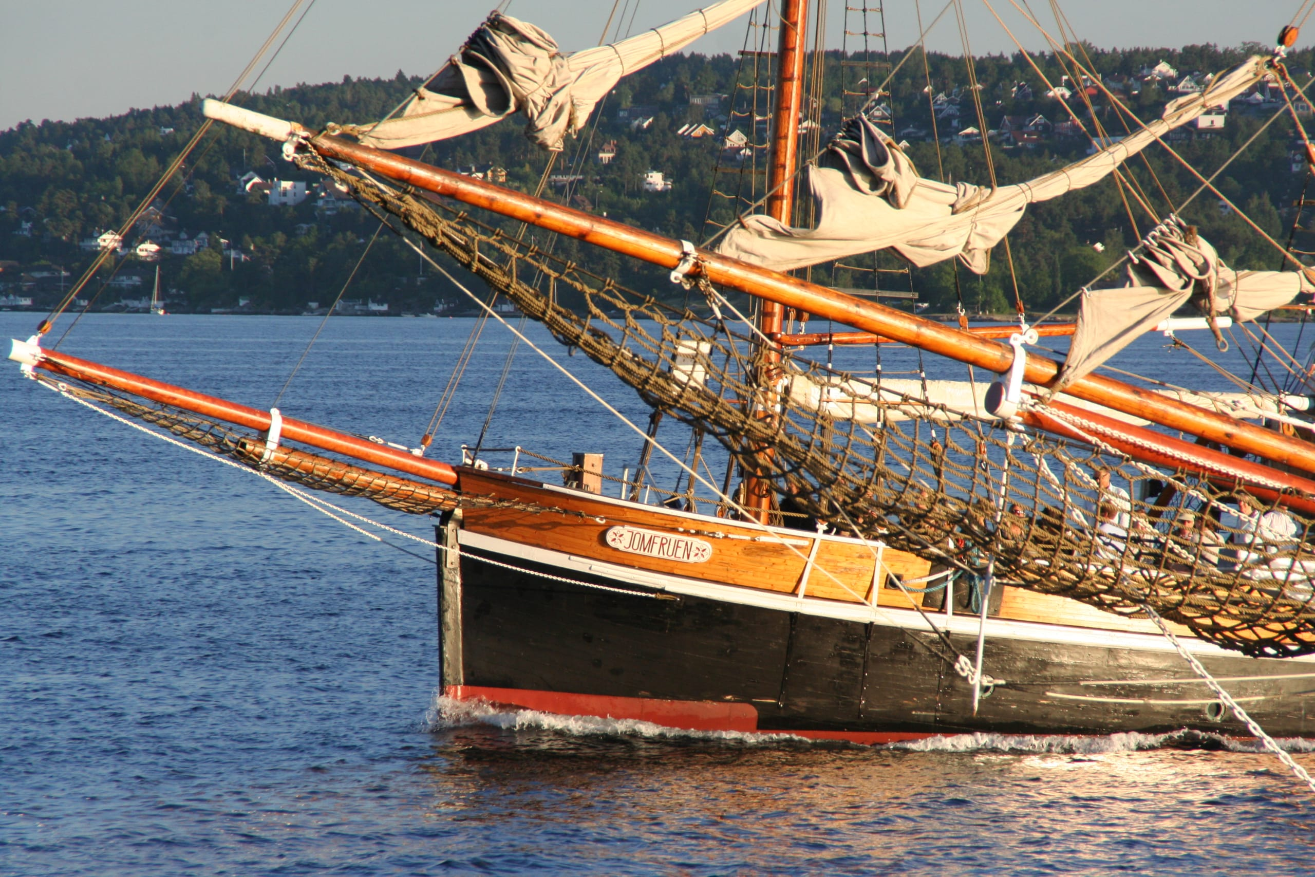 Cruise with sailship on the Oslofjord