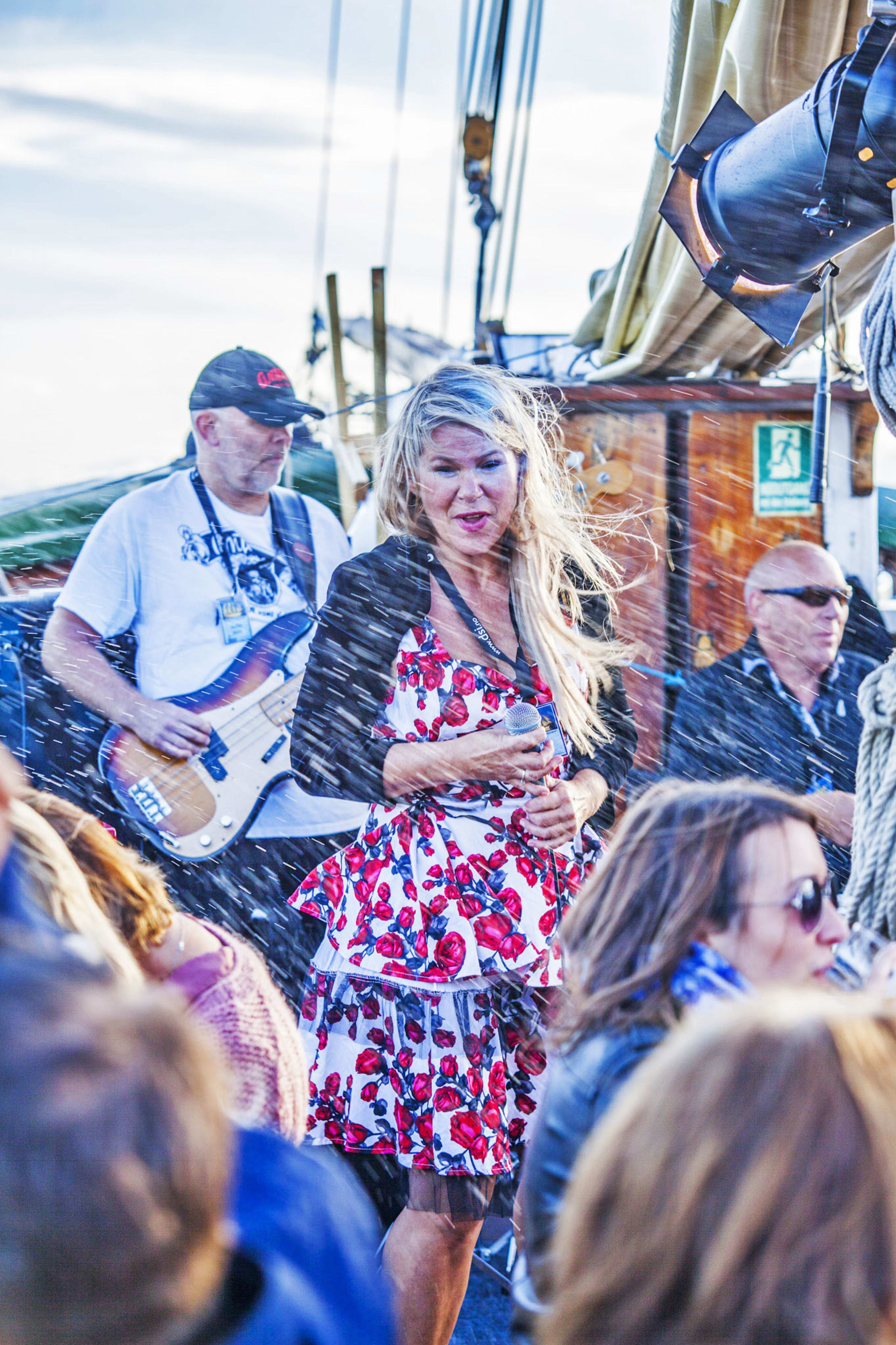 Vocalist on the Oslofjord jazz cruise