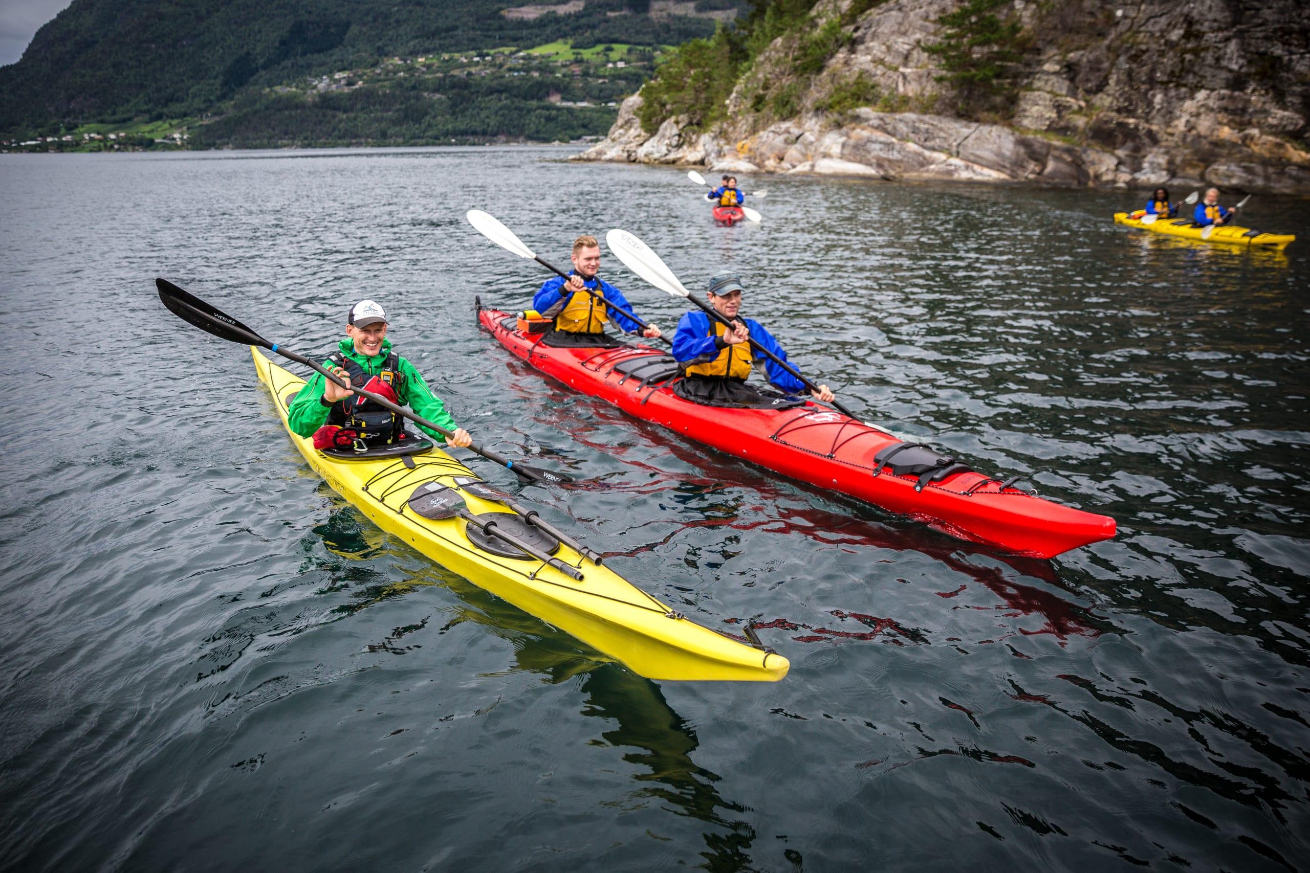 Fjord kayaking from Valldal