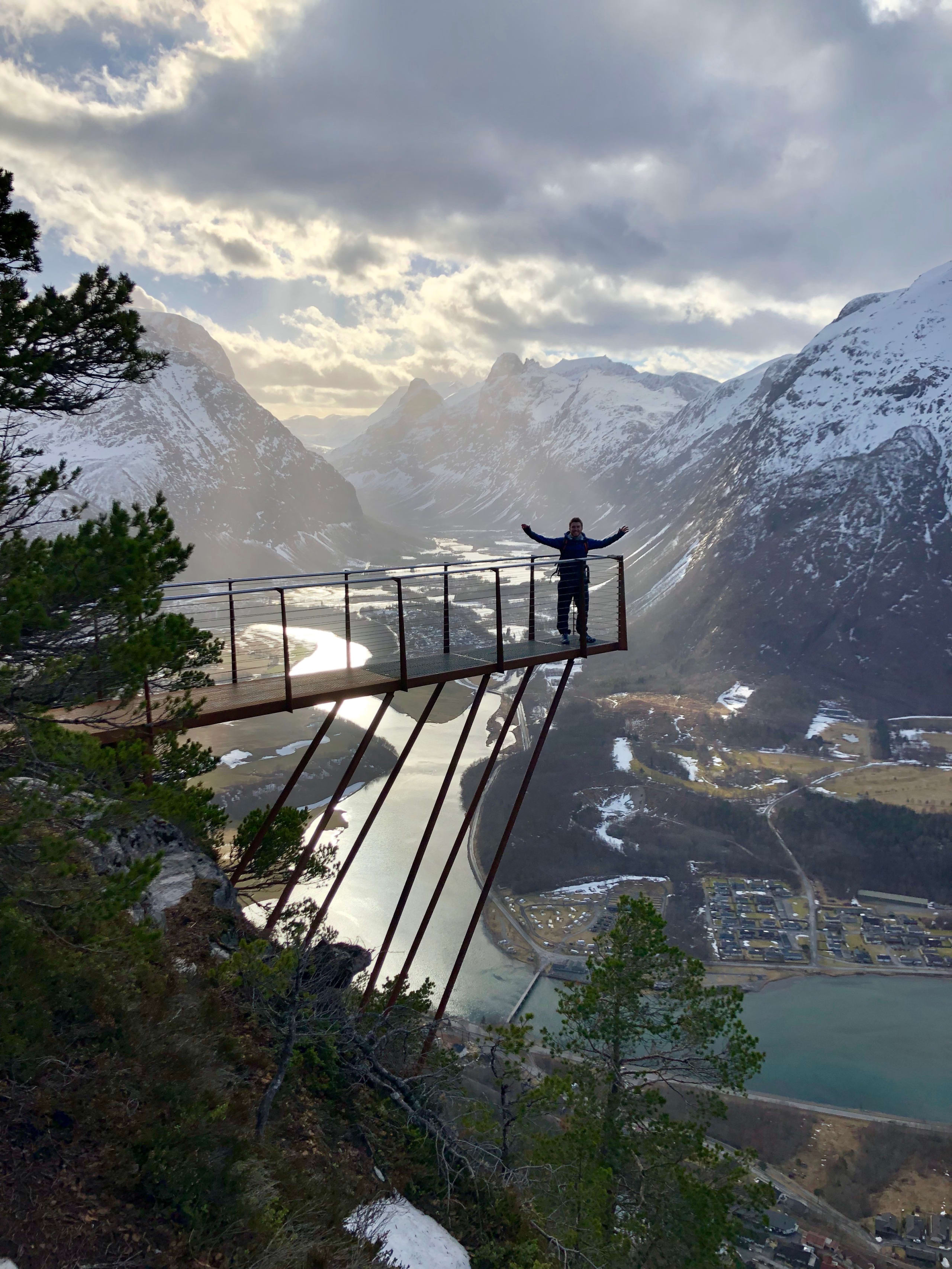 Man on rampestreken in Åndalsnes