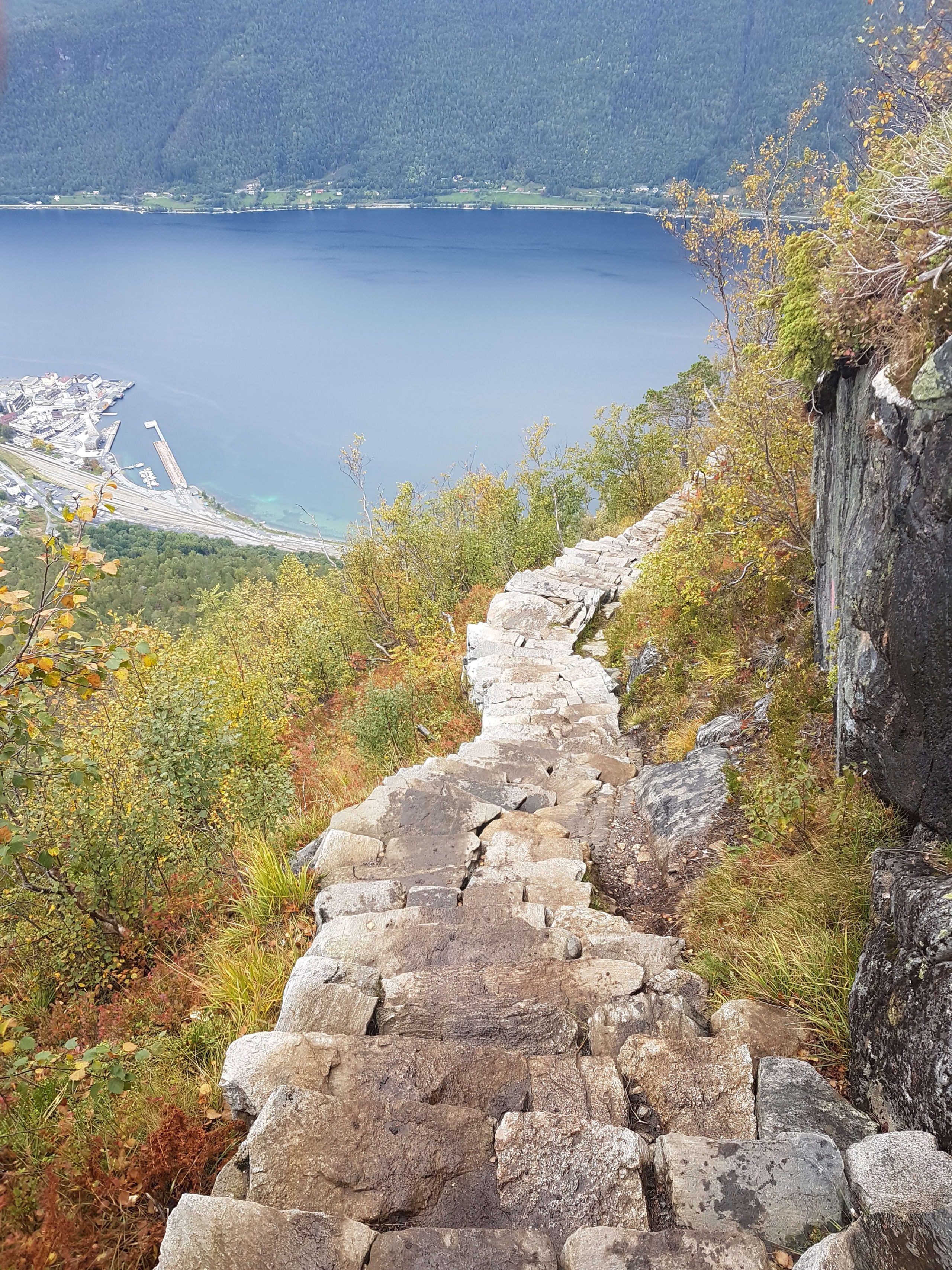 Stone path laid by mountain Sherpas