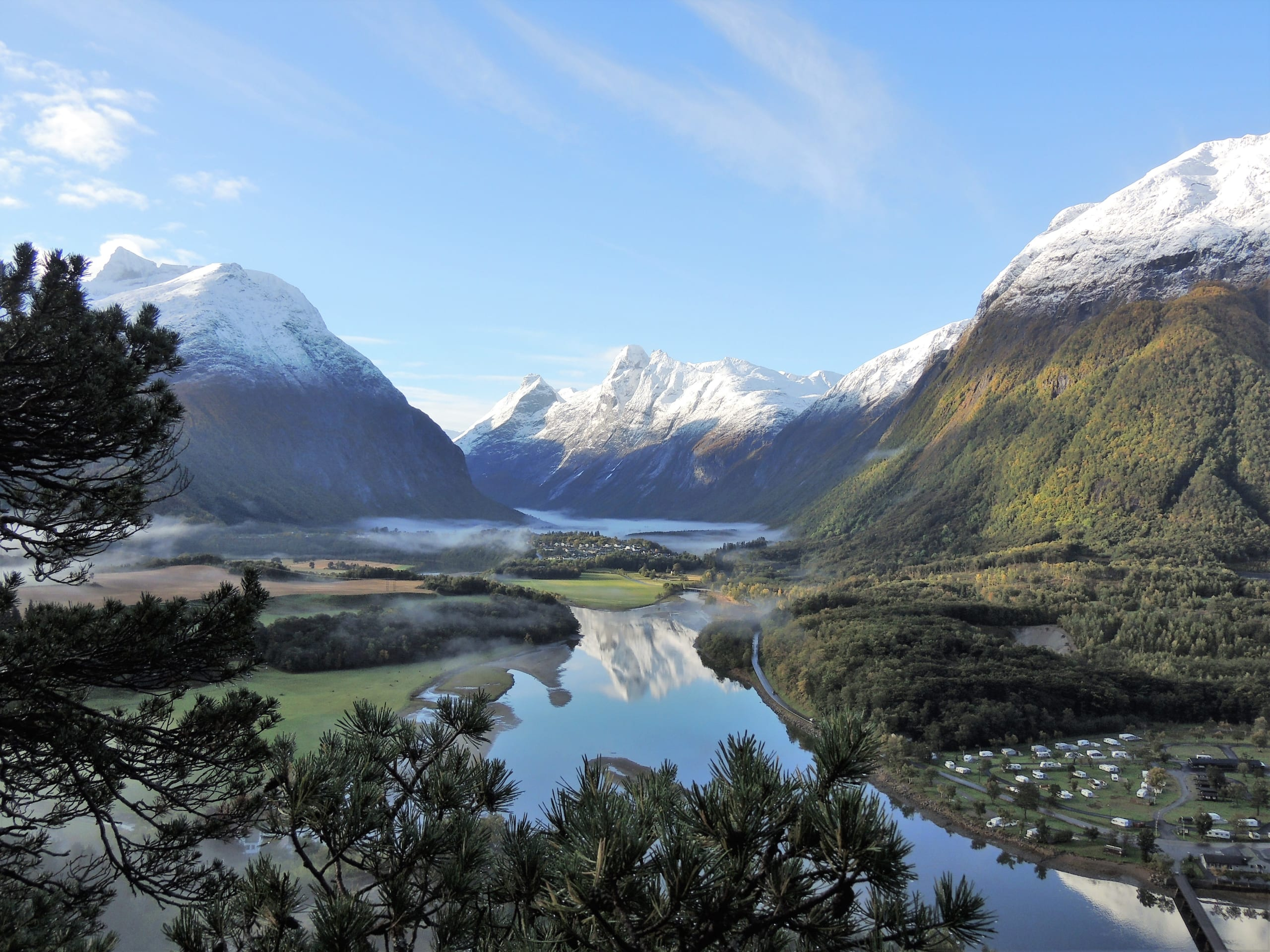 The river Rauma and Trollveggen mountain range