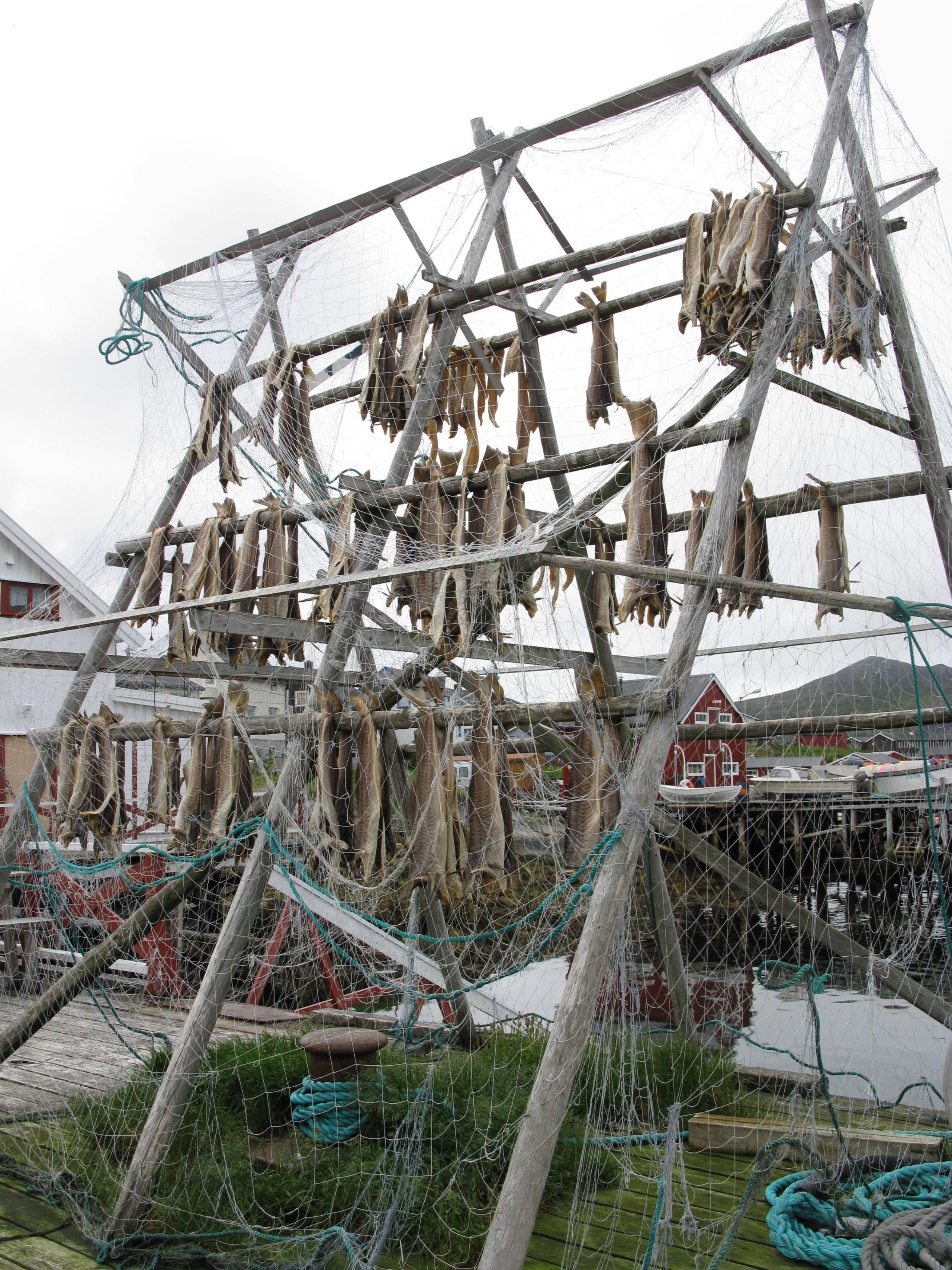 Drying racks in Honningsvåg