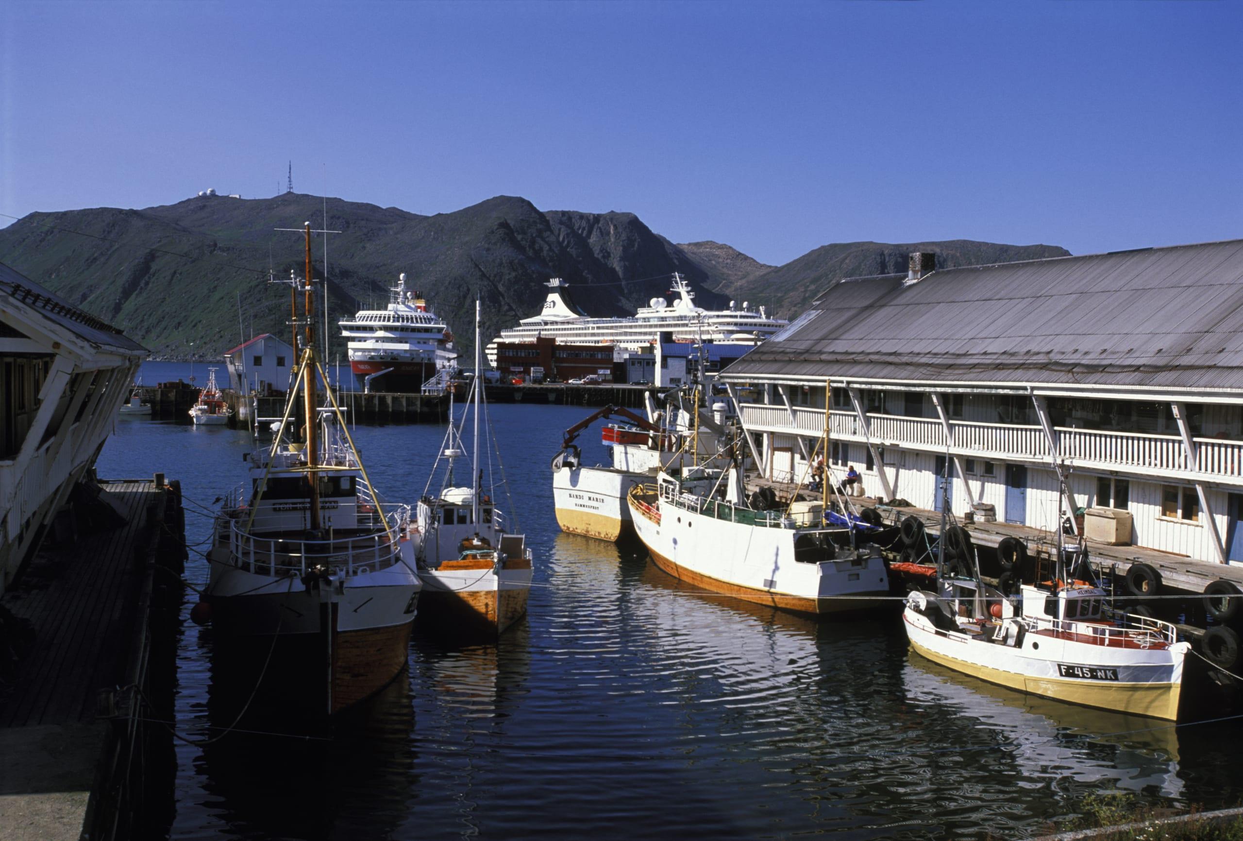 The harbor of Honningsvåg
