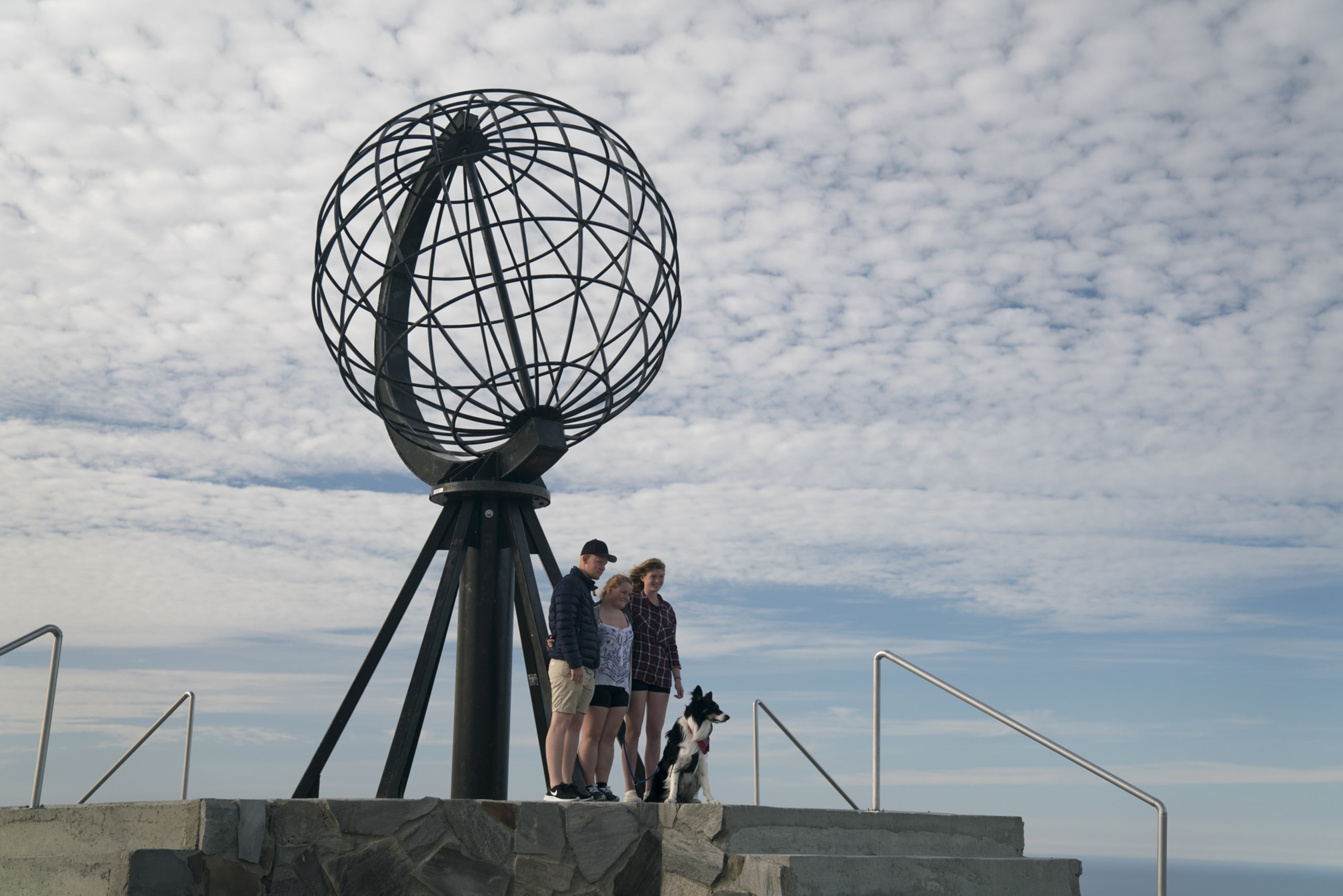 Family at North Cape