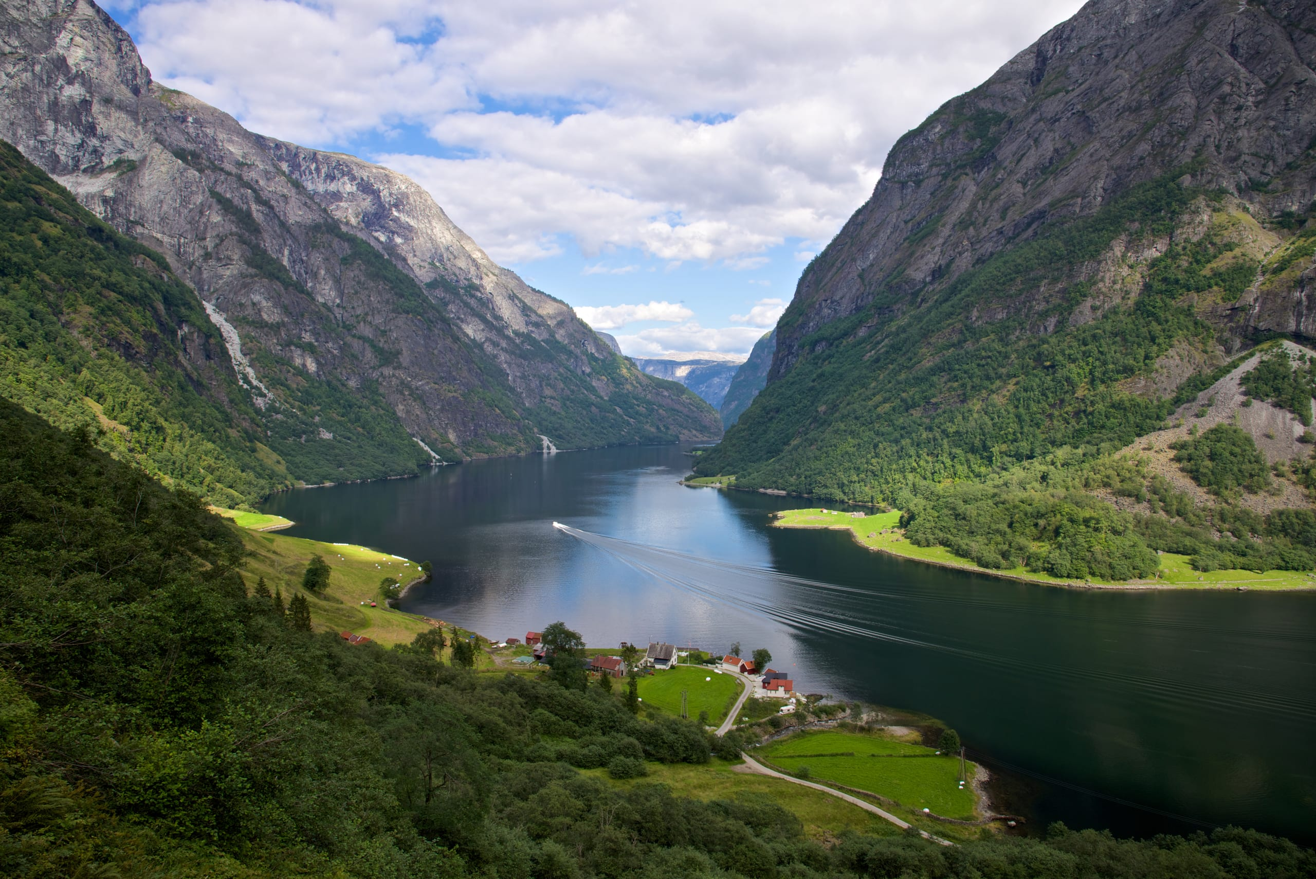 The stunningly narrow Nærøyfjord