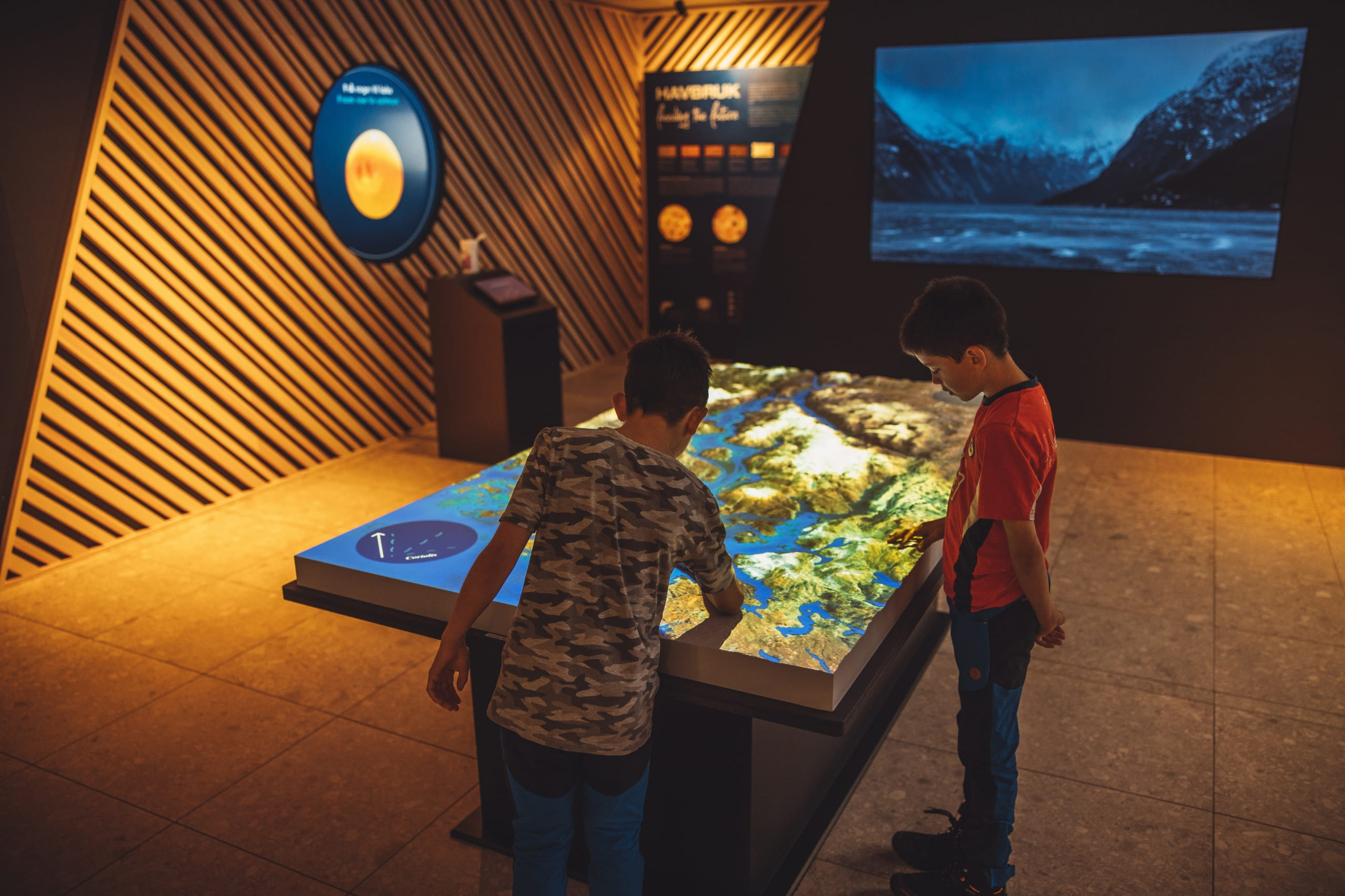Interactive exhibition at Hardanger Aqua center