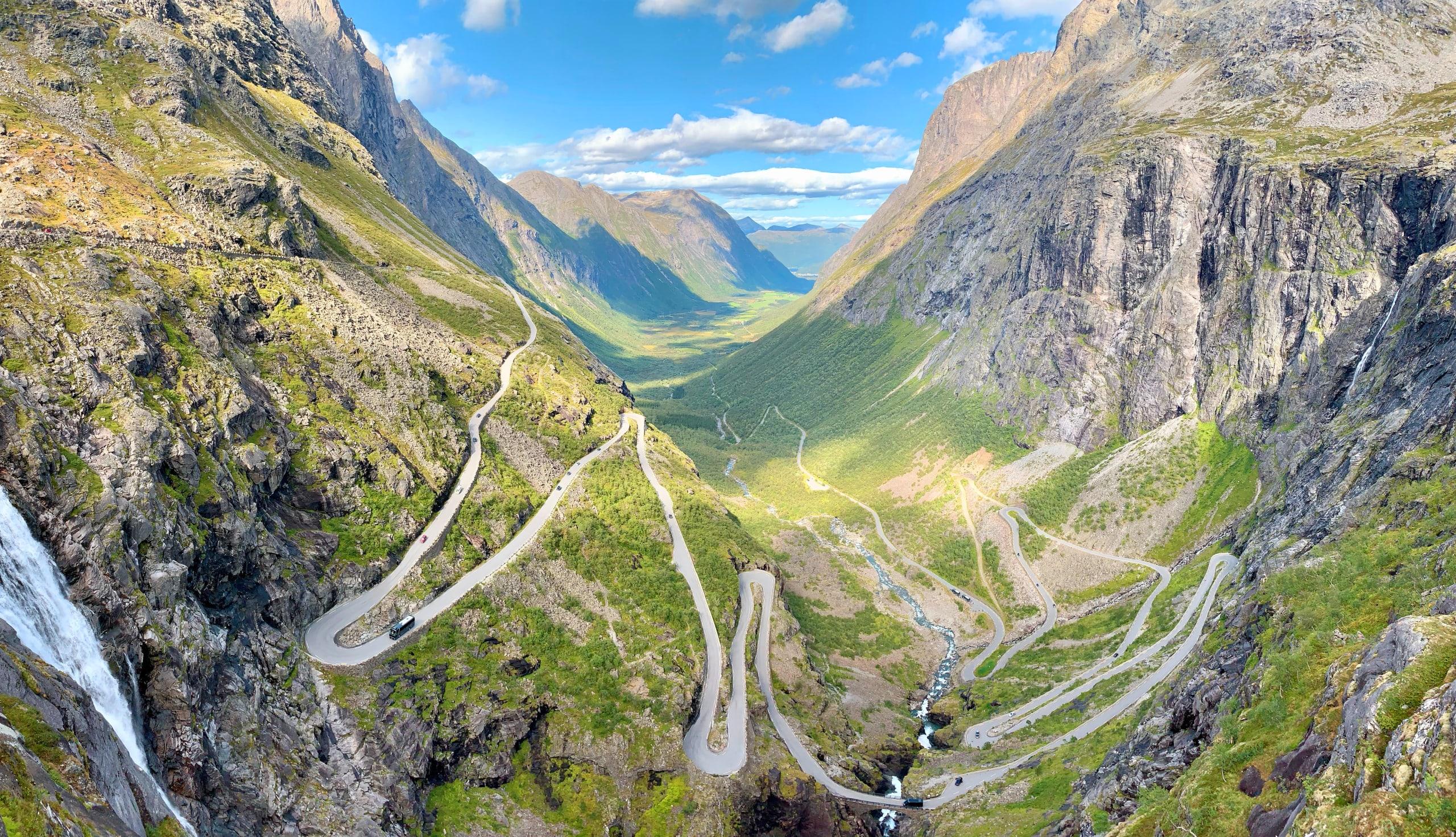 The scenic mountain road Trollstigen