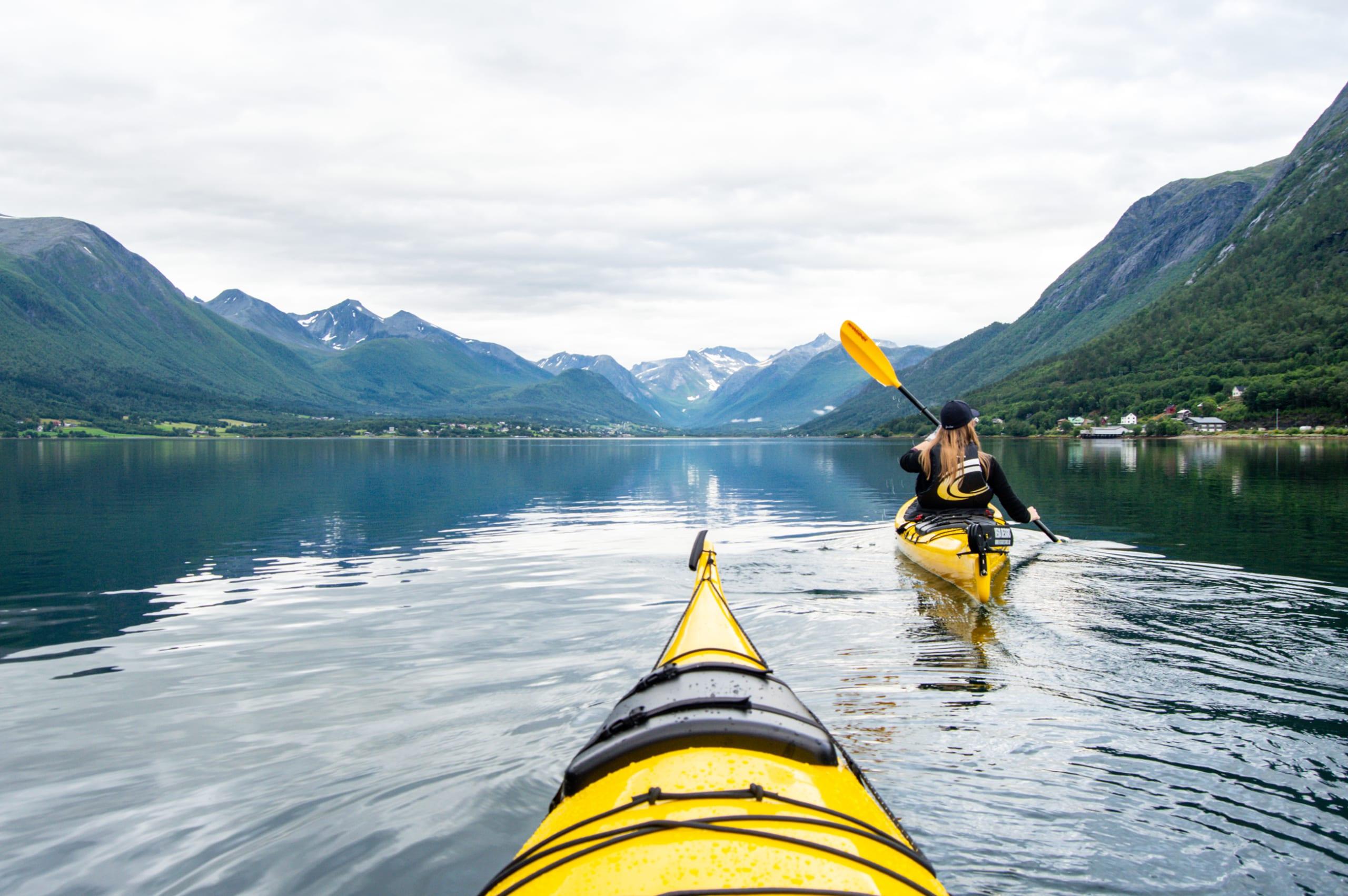 Kayaking the Romsdalsfjorden