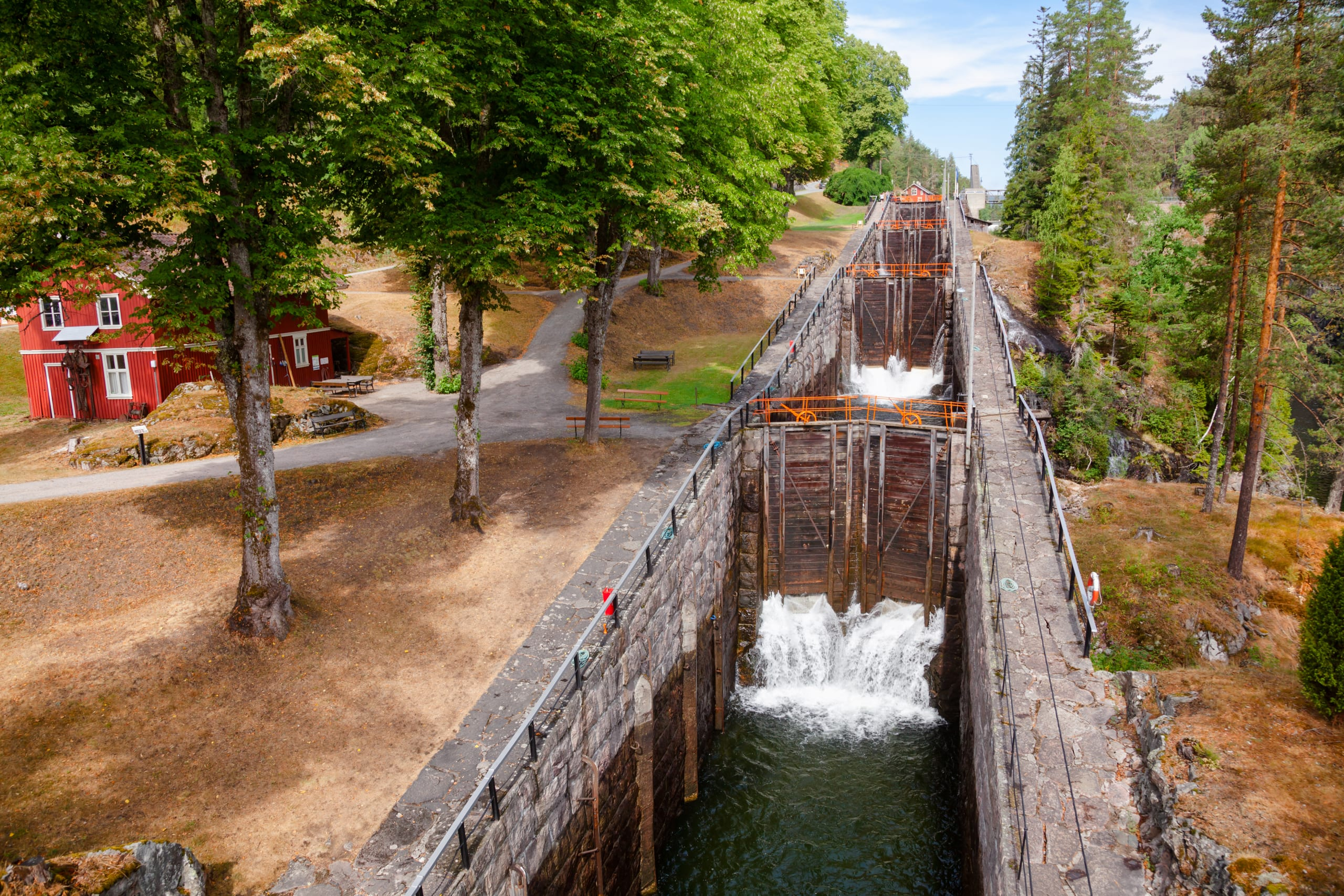 Vrangfoss lock system on the Telemark Canal